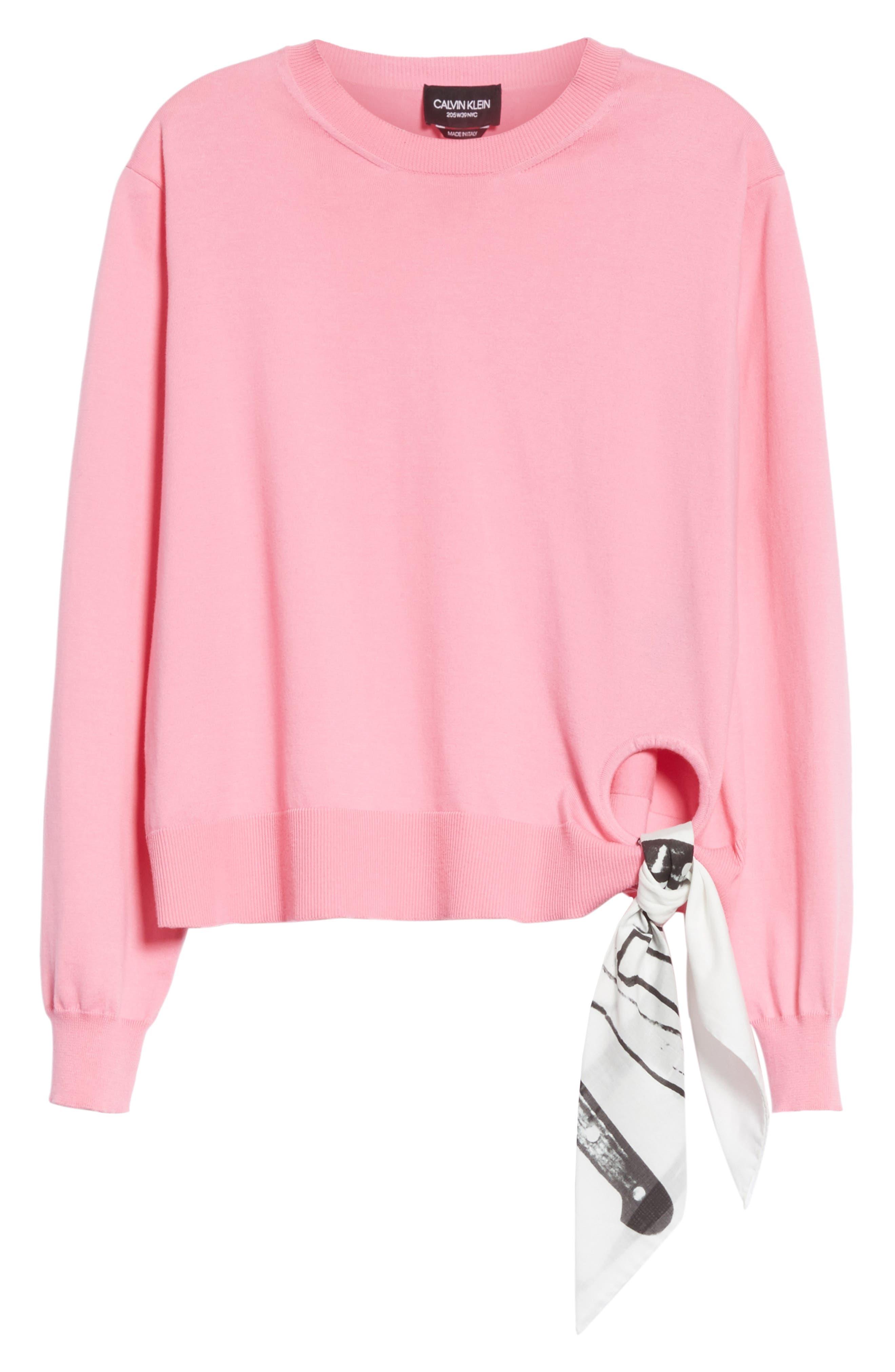 Scarf Hem Sweater,                             Alternate thumbnail 6, color,