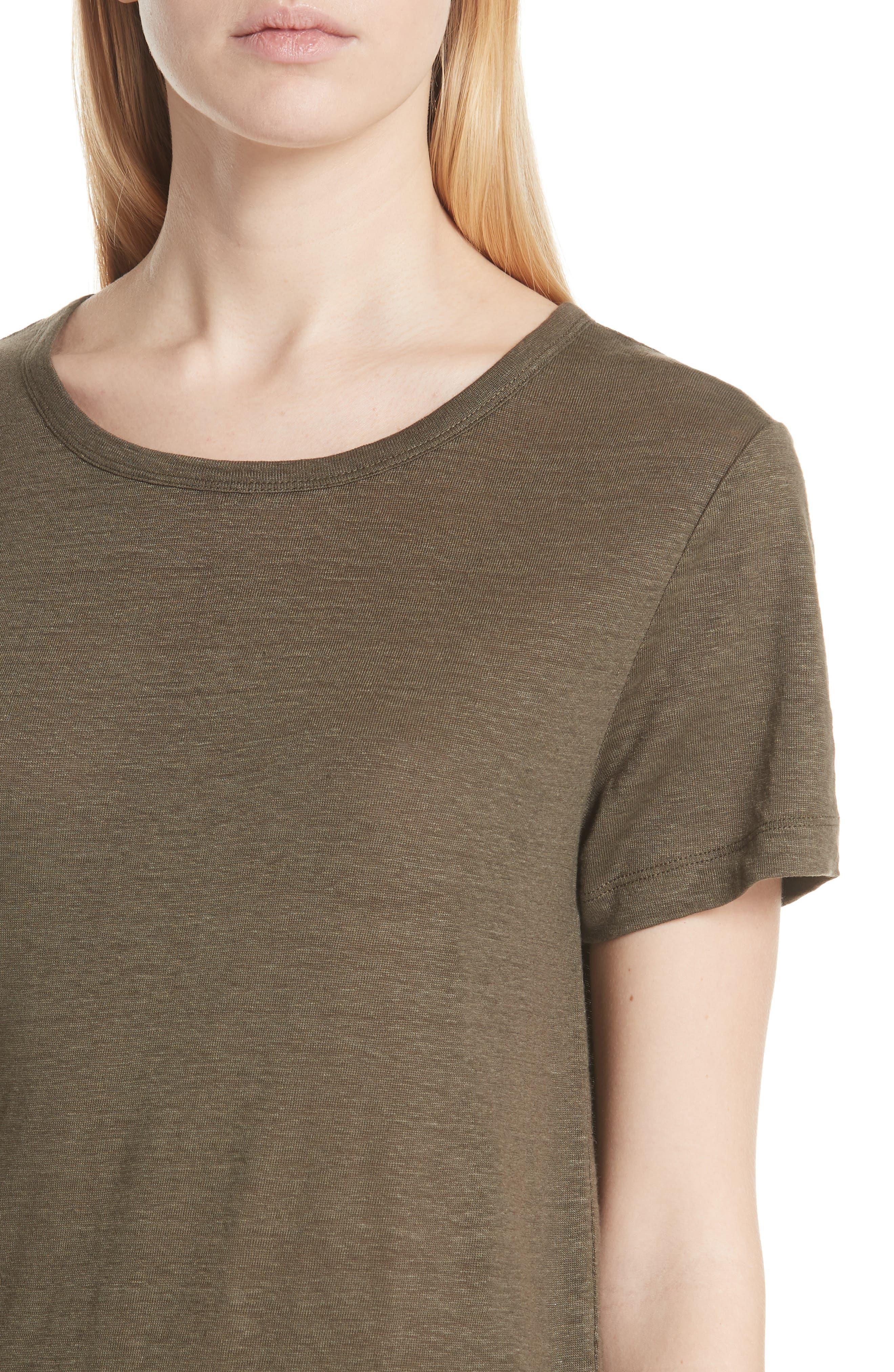 Linen Short Sleeve Top,                             Alternate thumbnail 8, color,