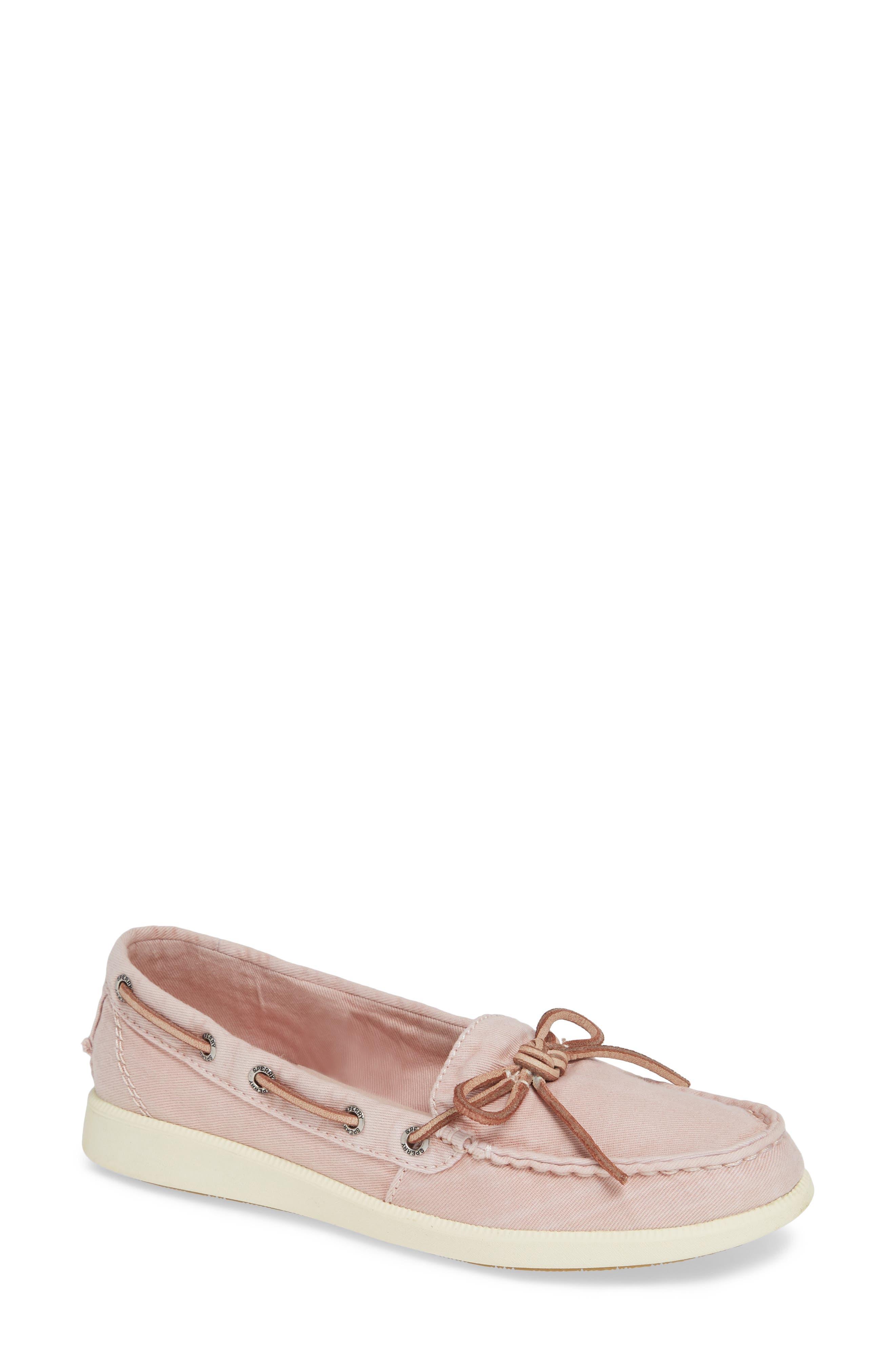 Oasis Boat Shoe,                         Main,                         color, ROSE CANVAS