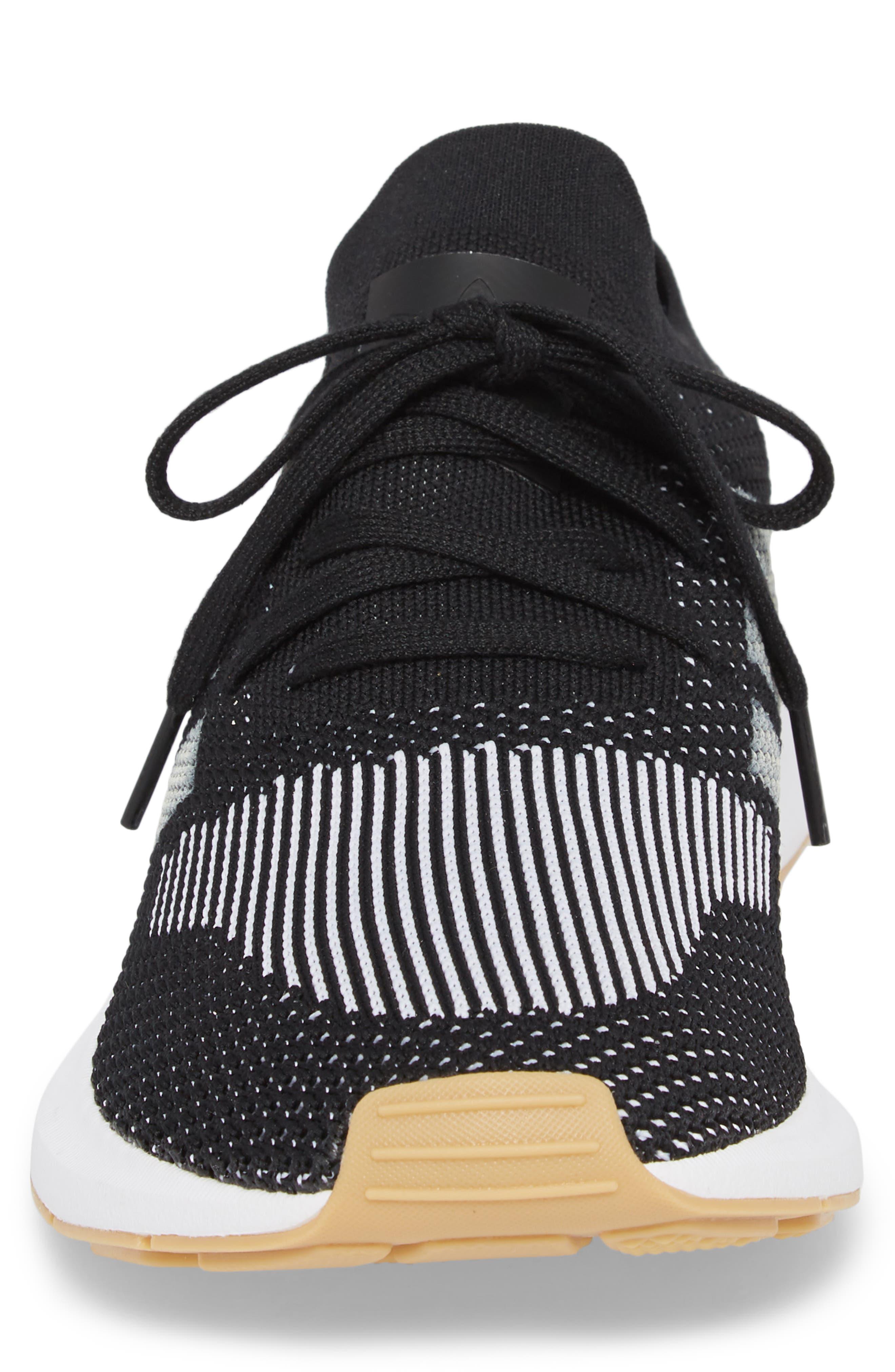 Swift Run Primeknit Sneaker,                             Alternate thumbnail 4, color,                             001