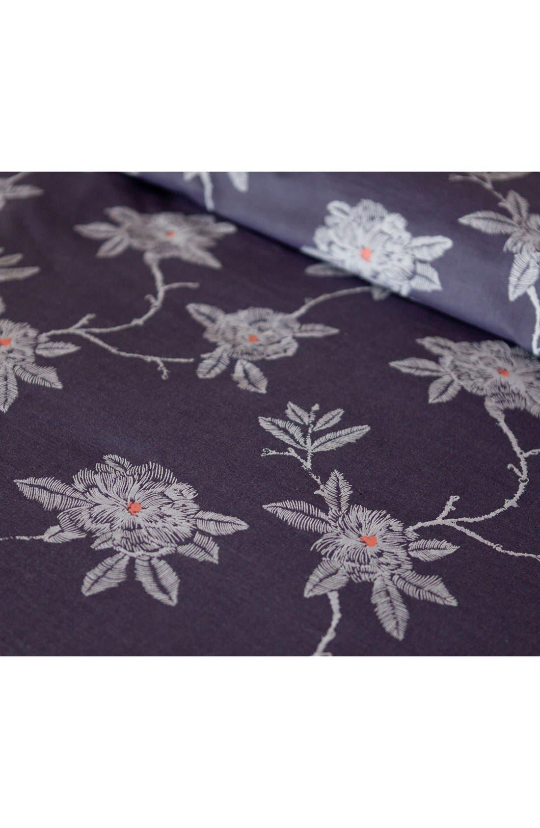 cupcakes & cashmere Sketch Floral Duvet Cover,                             Alternate thumbnail 3, color,                             400