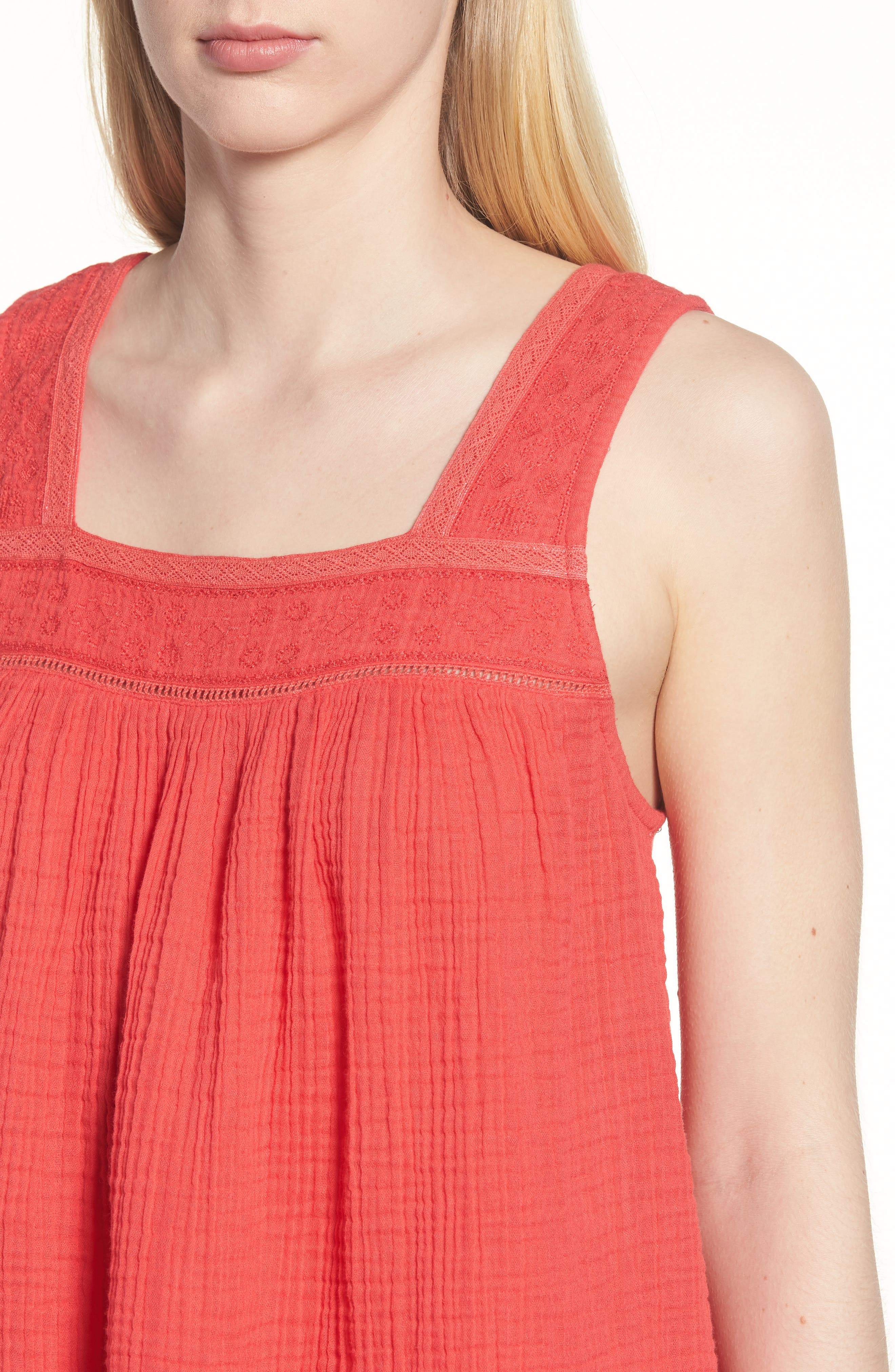 Embroidered Neck Swing Tank,                             Alternate thumbnail 14, color,