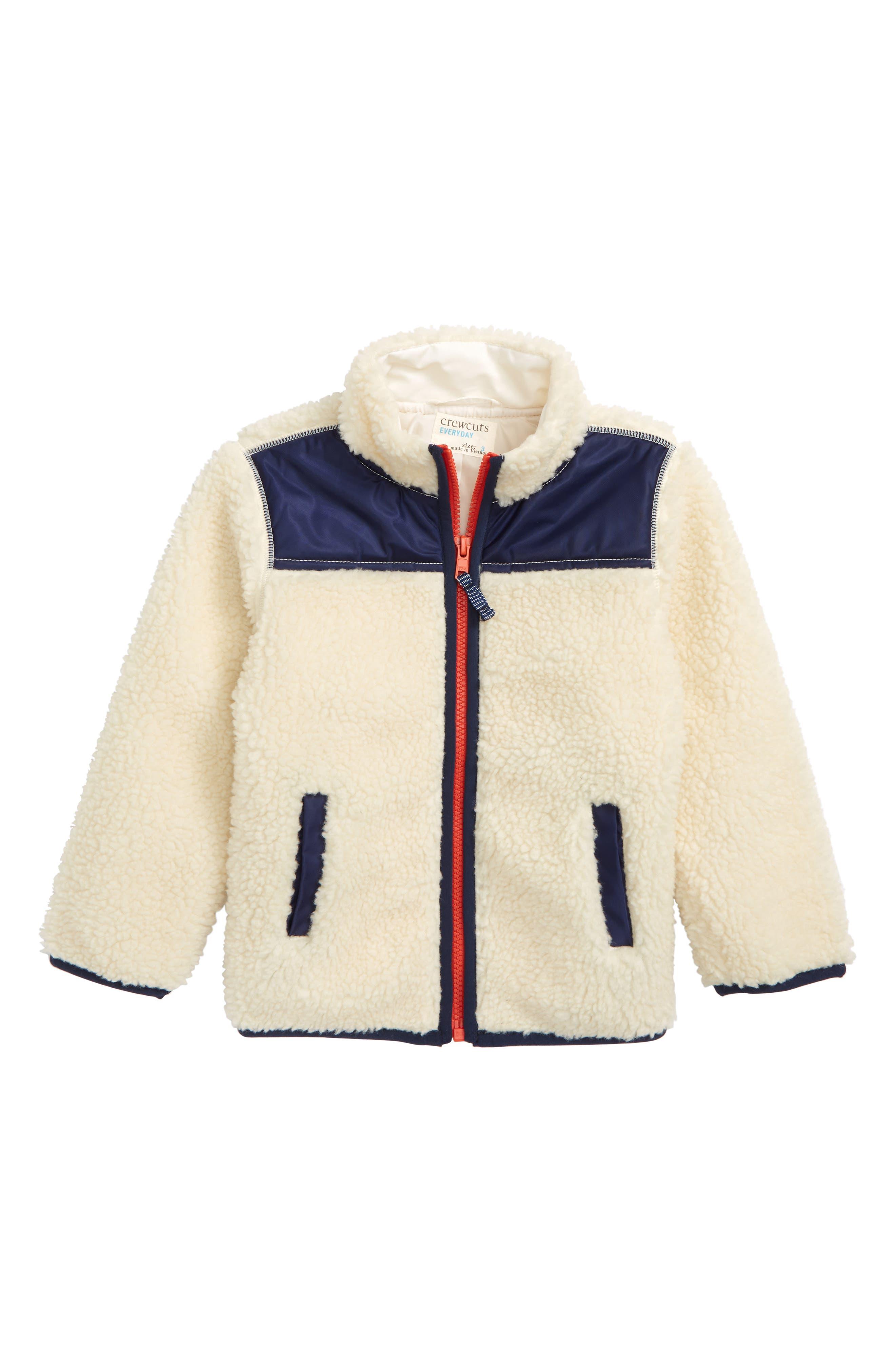 Colorblock Fleece Jacket,                         Main,                         color, LINEN