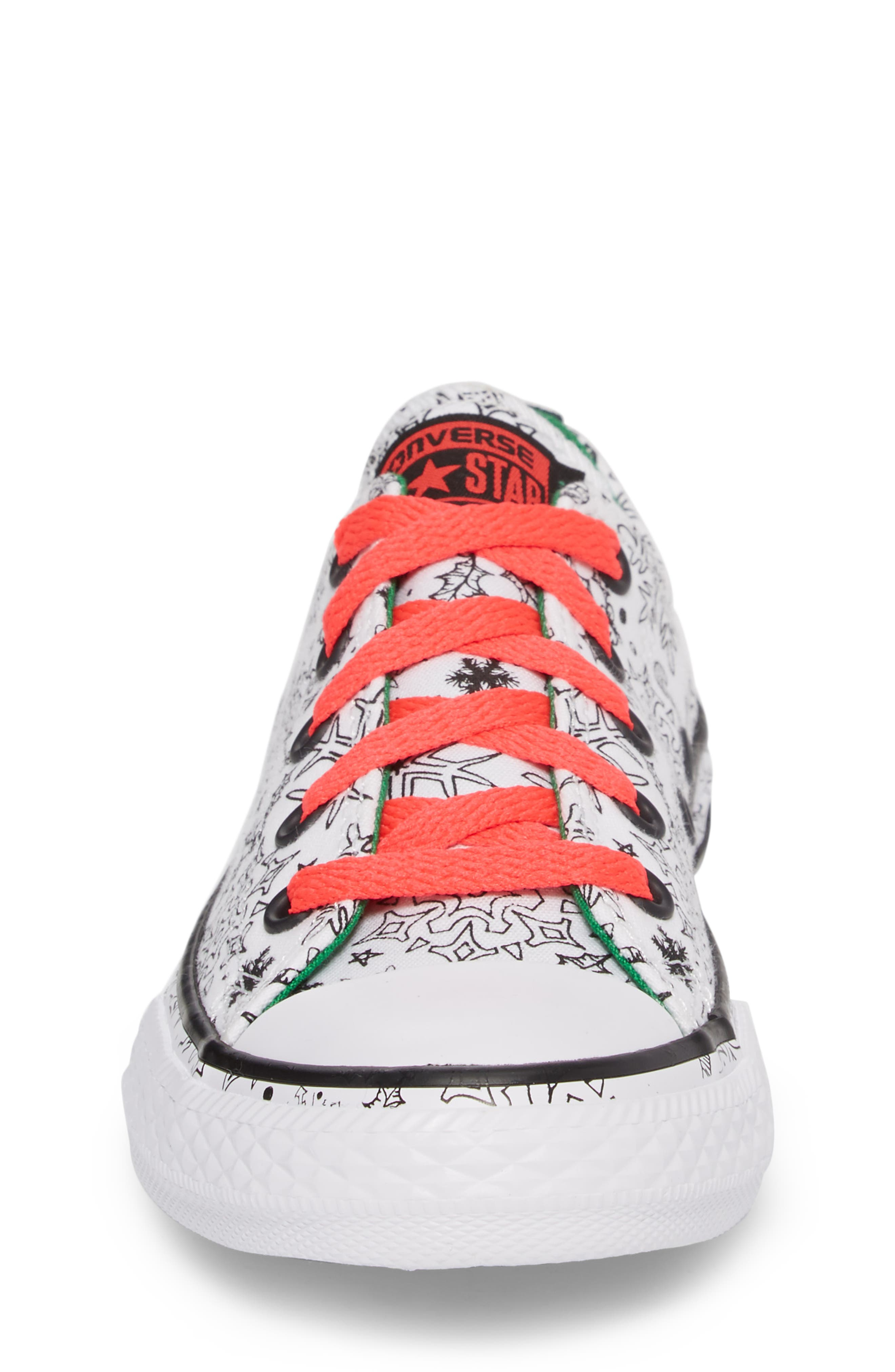 Chuck Taylor<sup>®</sup> All Star<sup>®</sup> Christmas Coloring Book Ox Sneaker,                             Alternate thumbnail 4, color,