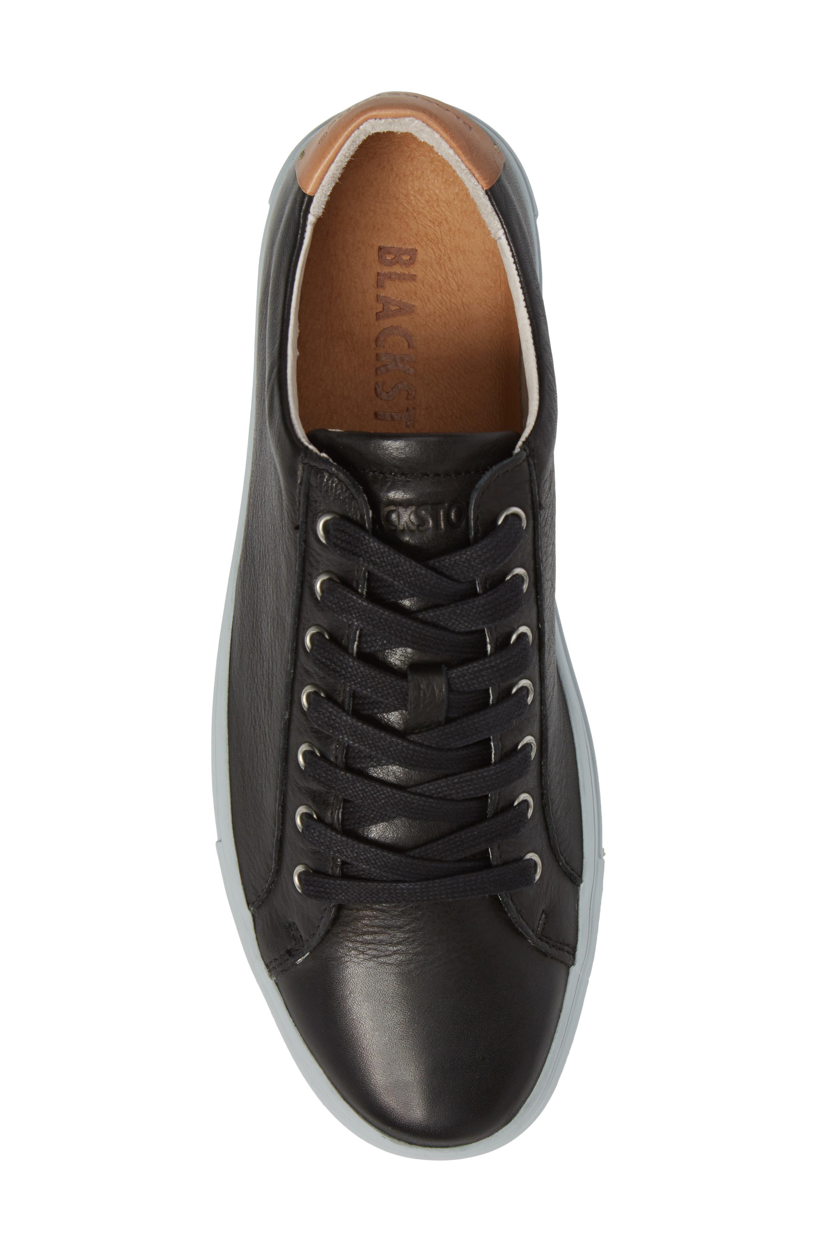 NM01 7 Eyelet Sneaker,                             Alternate thumbnail 5, color,                             BLACK LEATHER