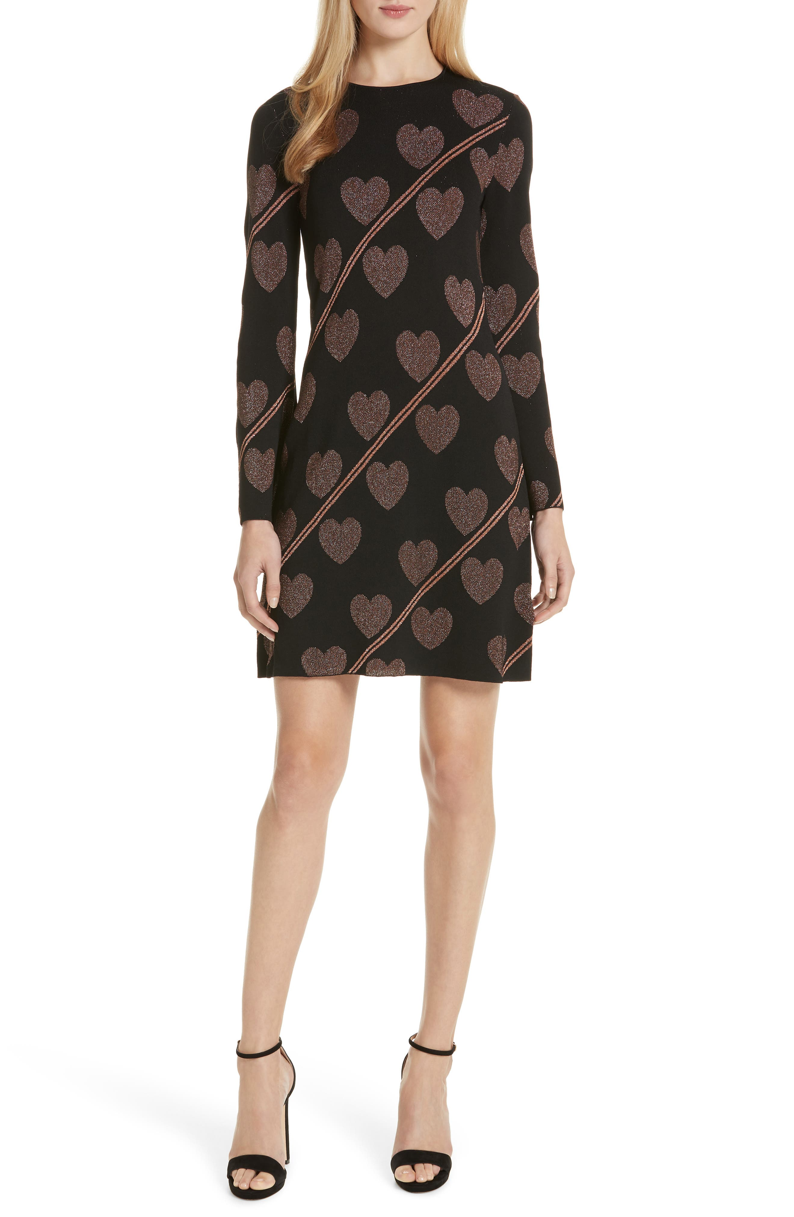 Uzeniaa Joyous Sweater Dress,                             Main thumbnail 1, color,                             BLACK