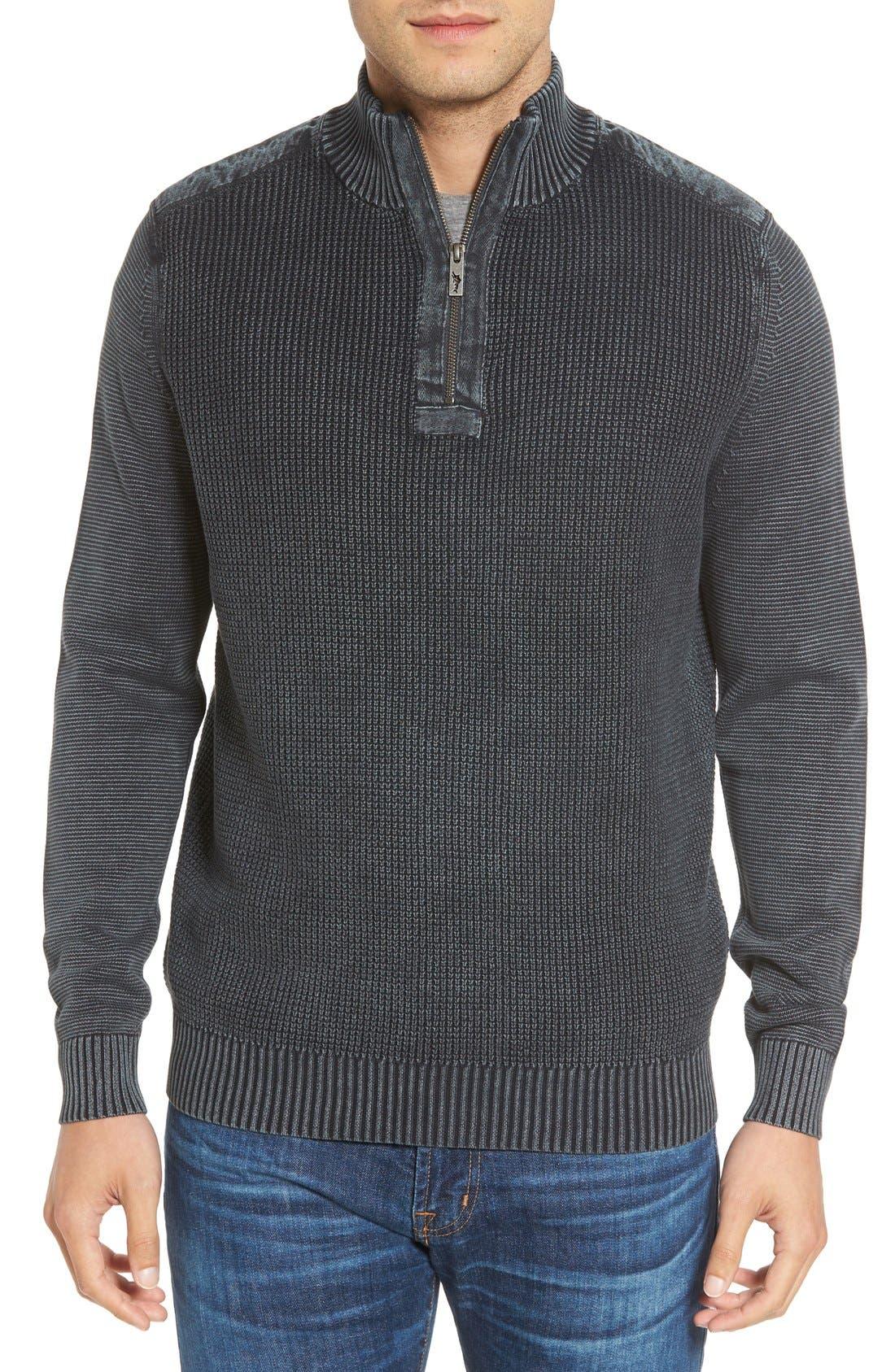 'Coastal Shores' Quarter Zip Sweater,                             Main thumbnail 3, color,