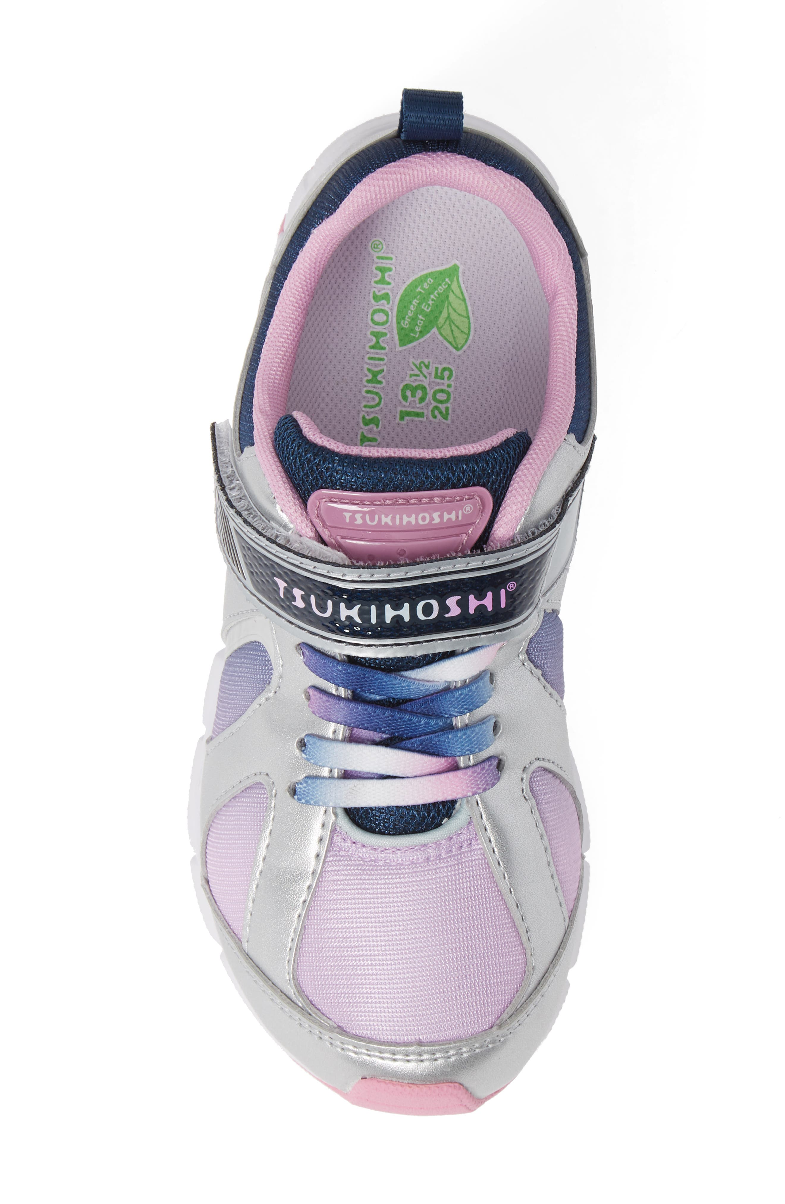 Rainbow Washable Sneaker,                             Alternate thumbnail 5, color,                             SILVER/ NAVY