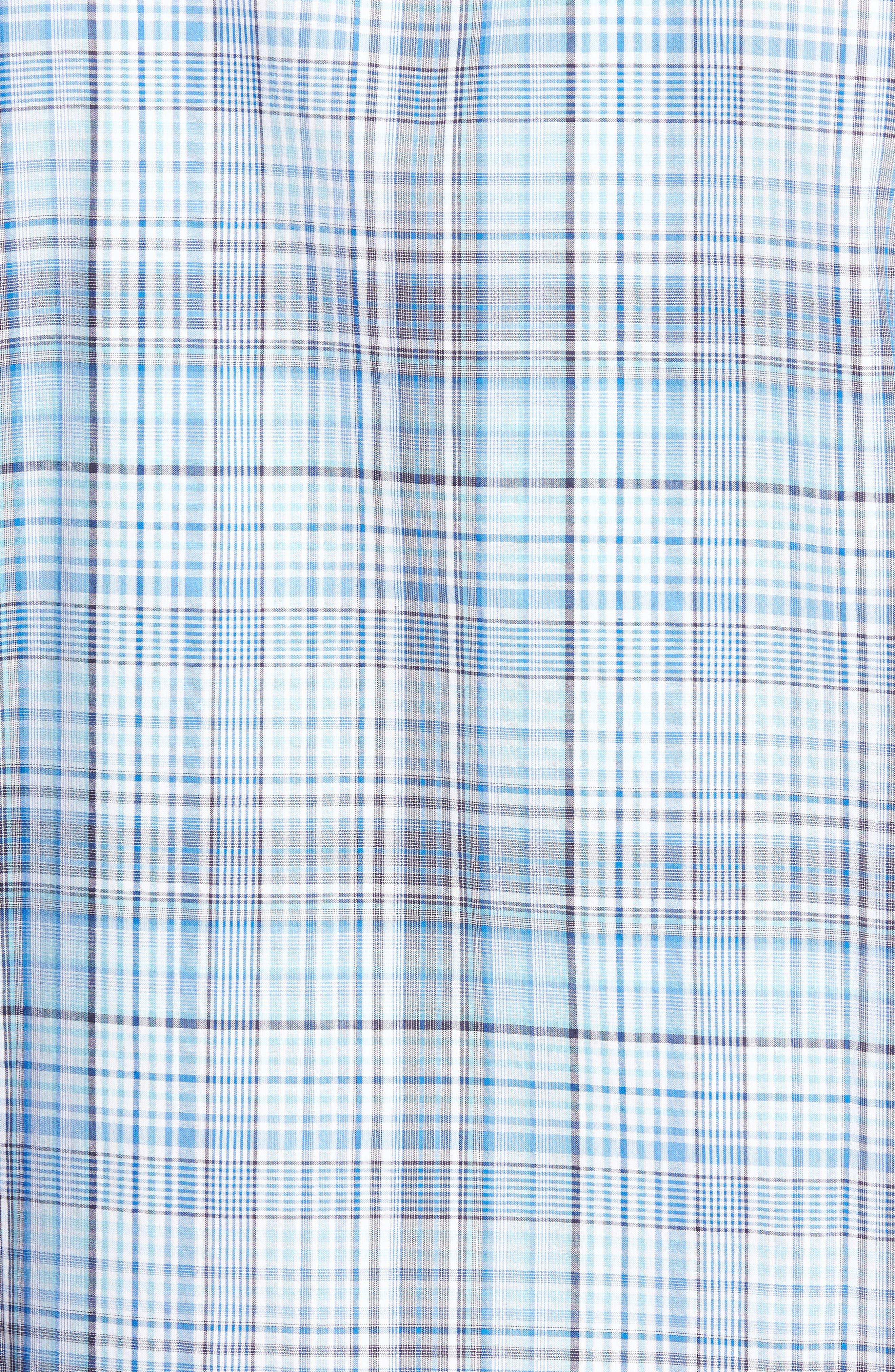 Classic Fit Plaid Sport Shirt,                             Alternate thumbnail 5, color,                             422