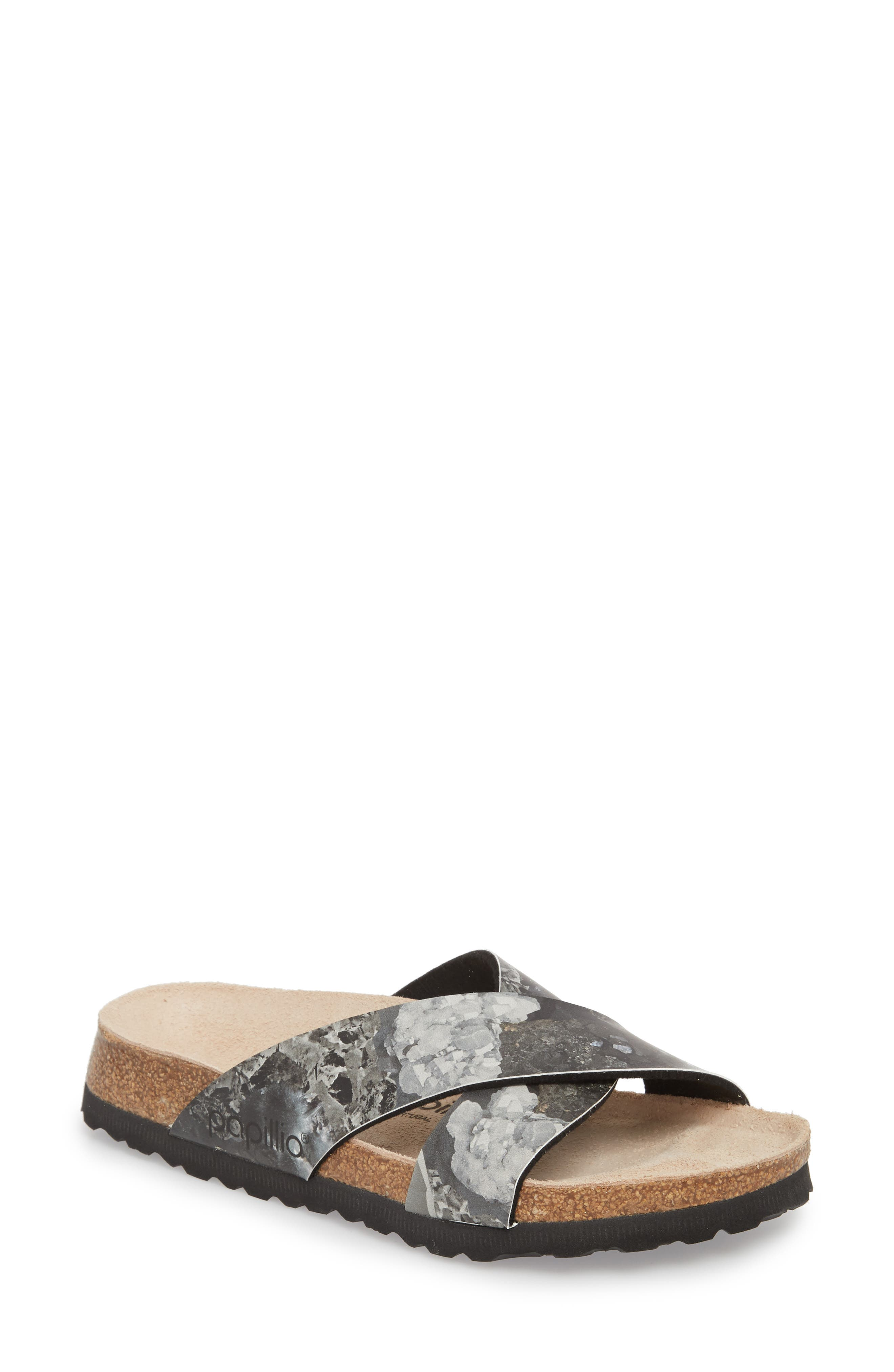 Daytona Crystal Slide Sandal,                             Main thumbnail 1, color,                             001