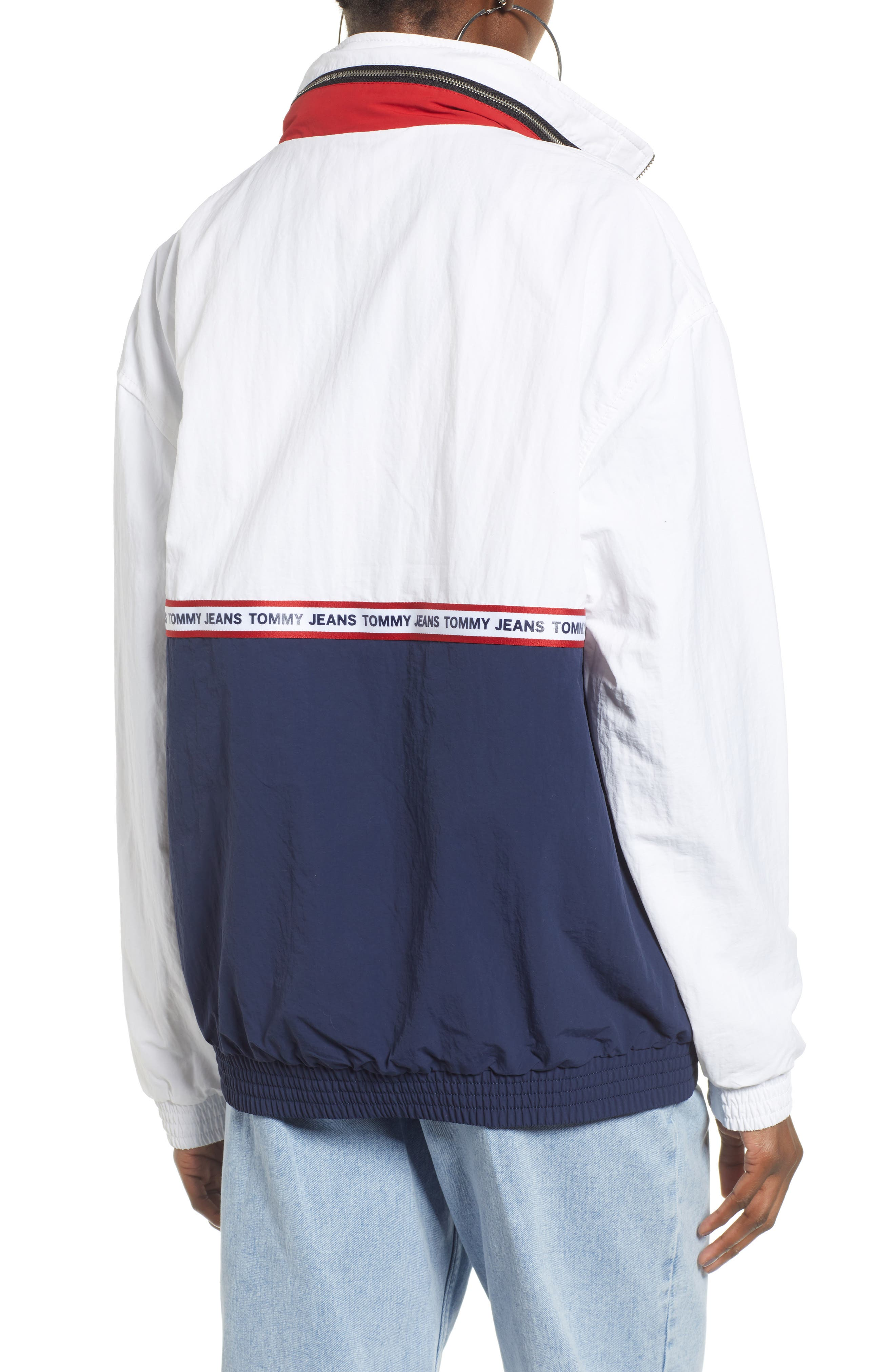TOMMY JEANS,                             TJW Logo Tape Pullover,                             Alternate thumbnail 2, color,                             400
