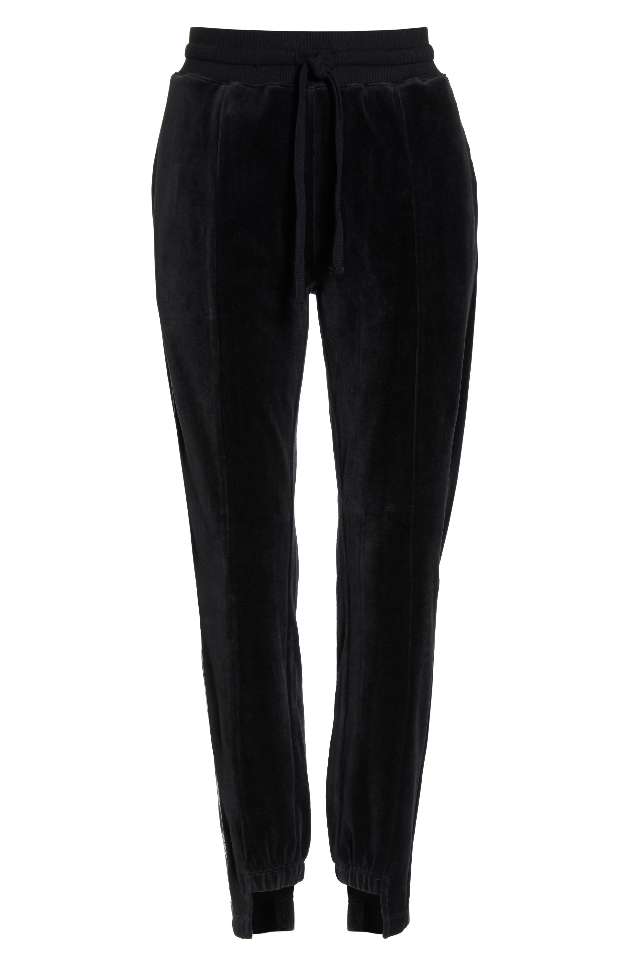 Iris Track Pants,                             Alternate thumbnail 6, color,                             BLACK