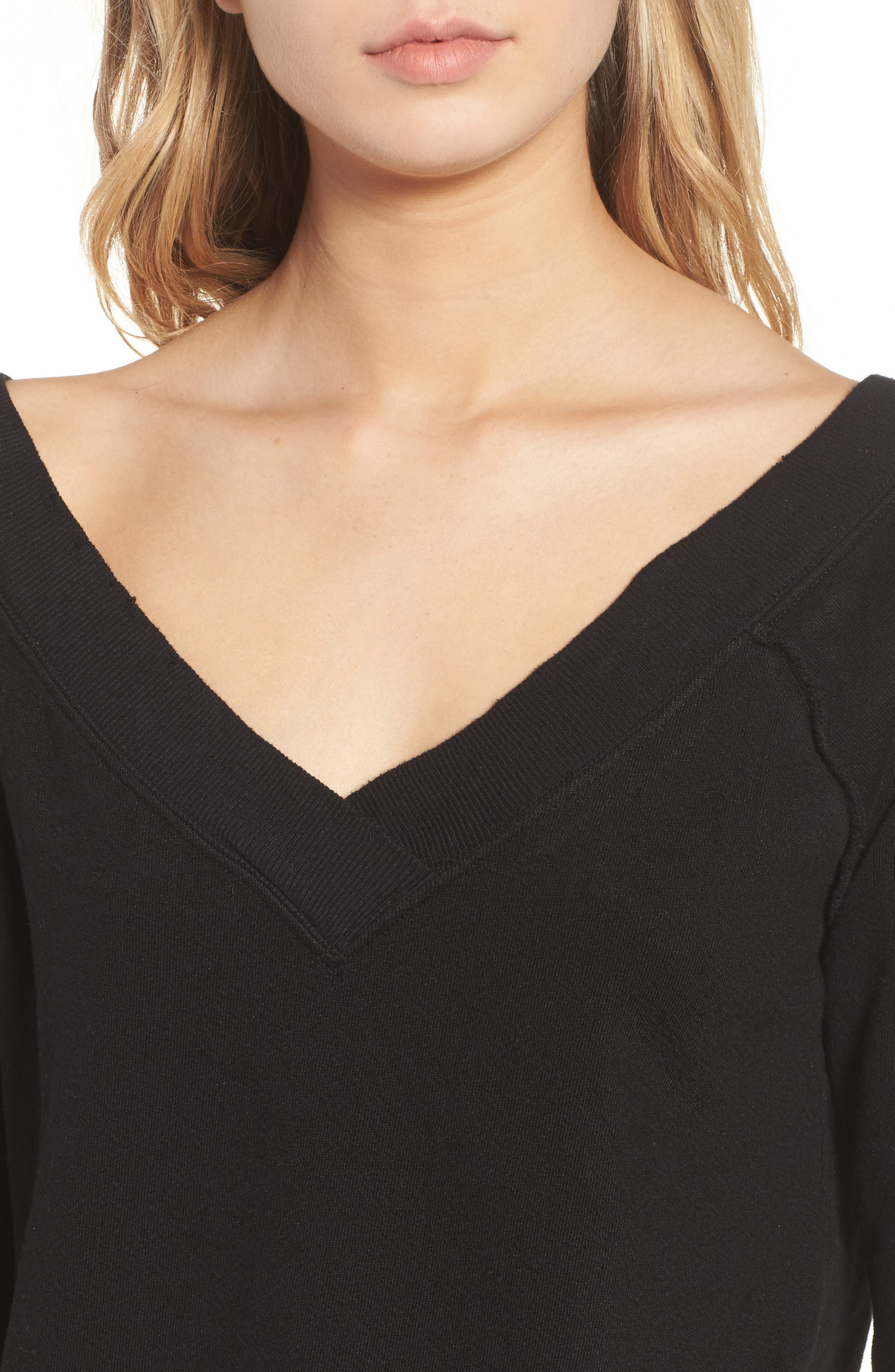 Mayer V-Neck Sweatshirt,                             Alternate thumbnail 4, color,                             002