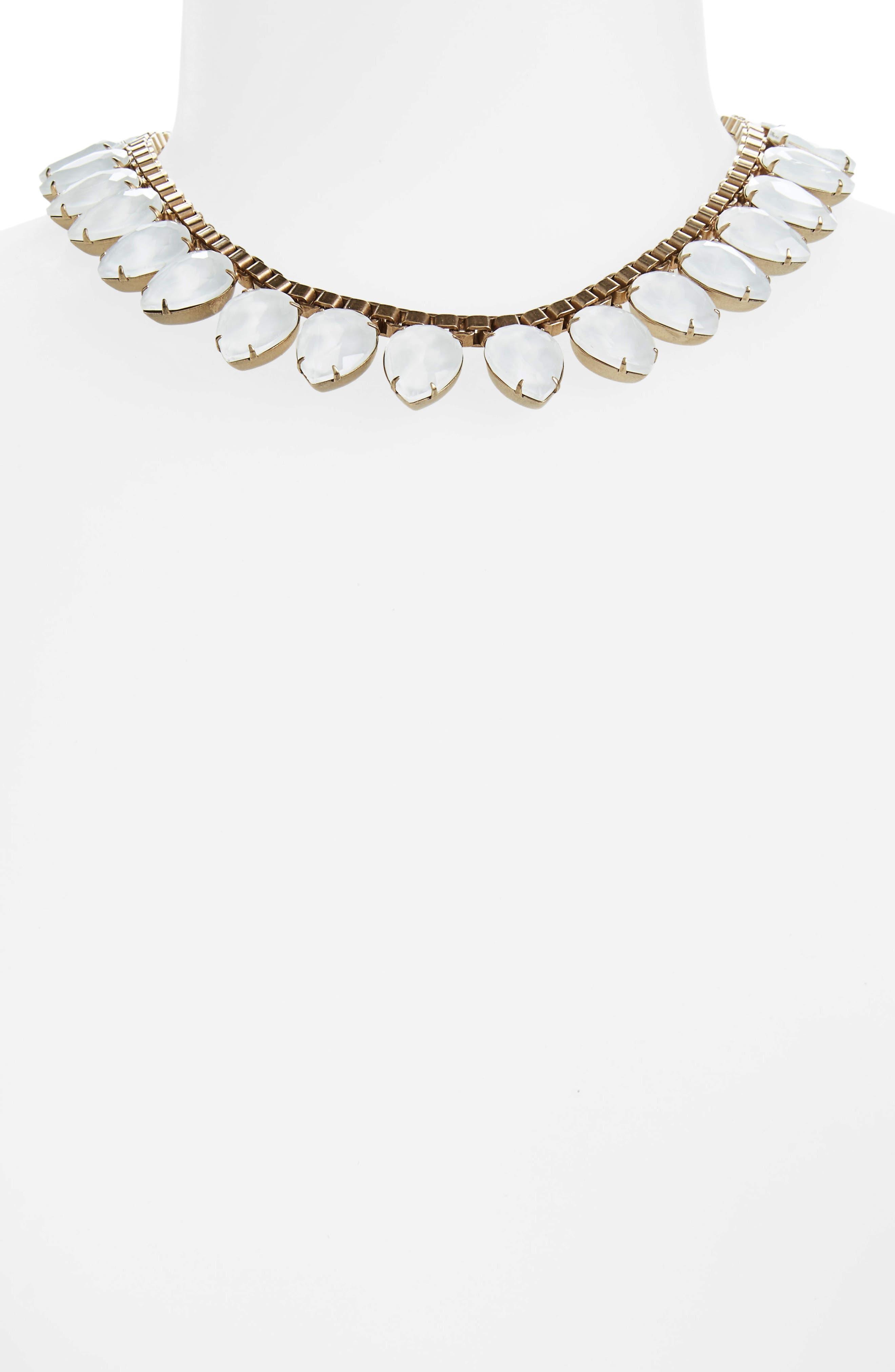 'Sylvia' Crystal Collar Necklace,                             Alternate thumbnail 13, color,