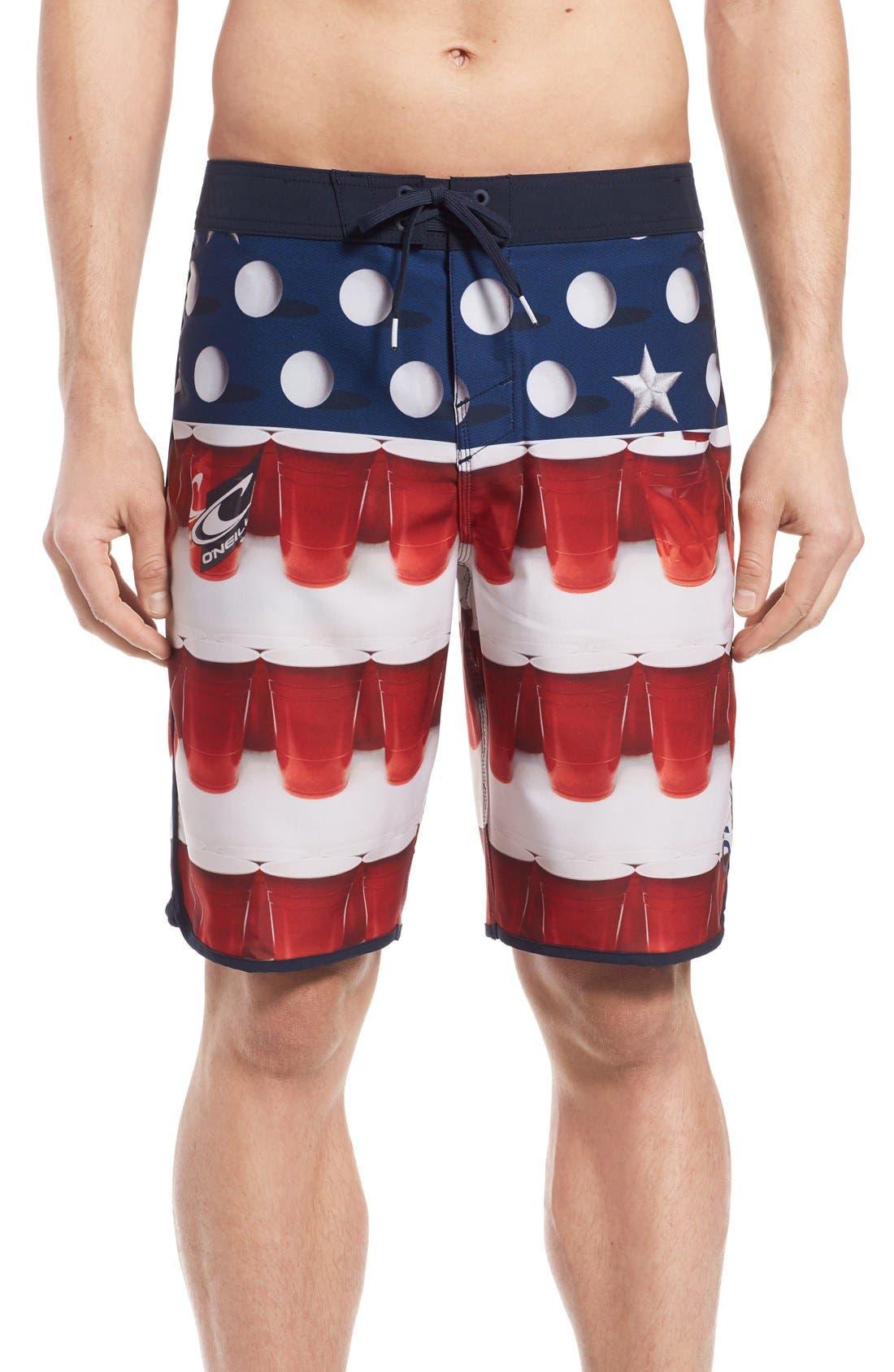 O'NEILL 'Hyperfreak - Beer Pong' Board Shorts, Main, color, 600