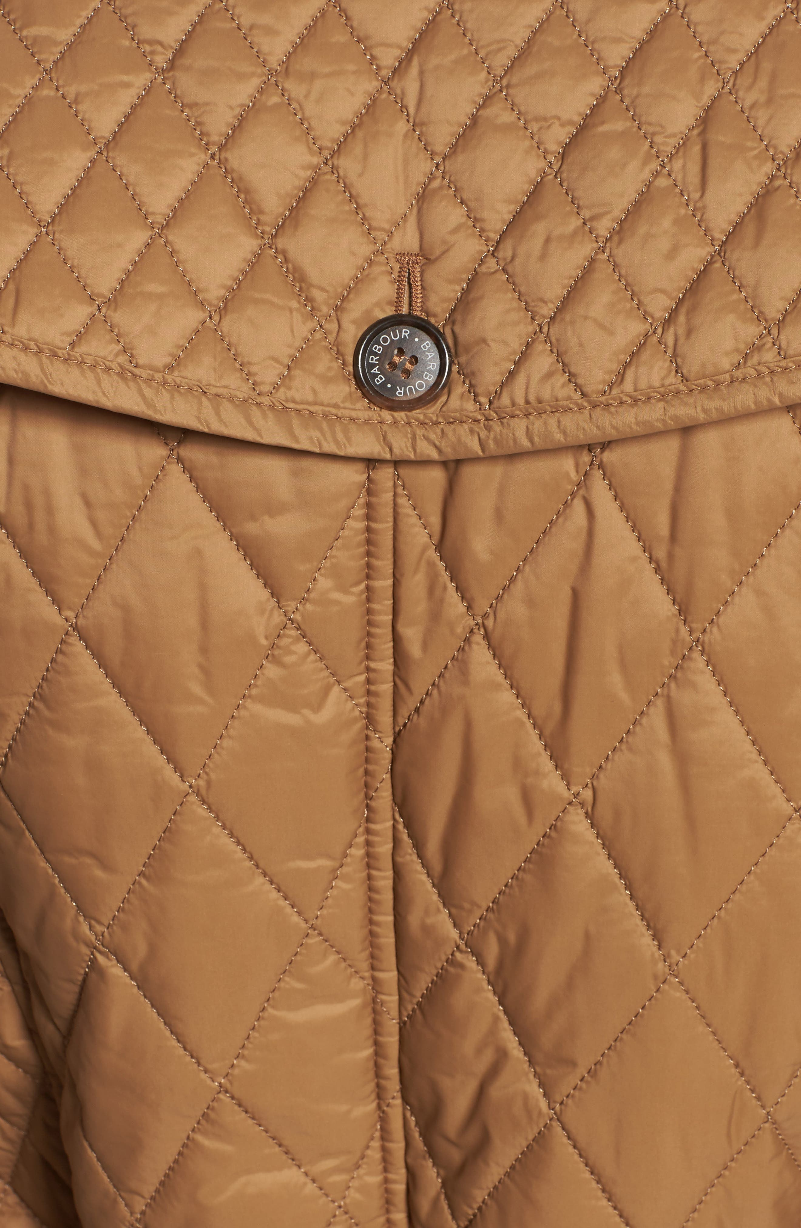 Hailes Quilted Trench Jacket,                             Alternate thumbnail 6, color,                             260