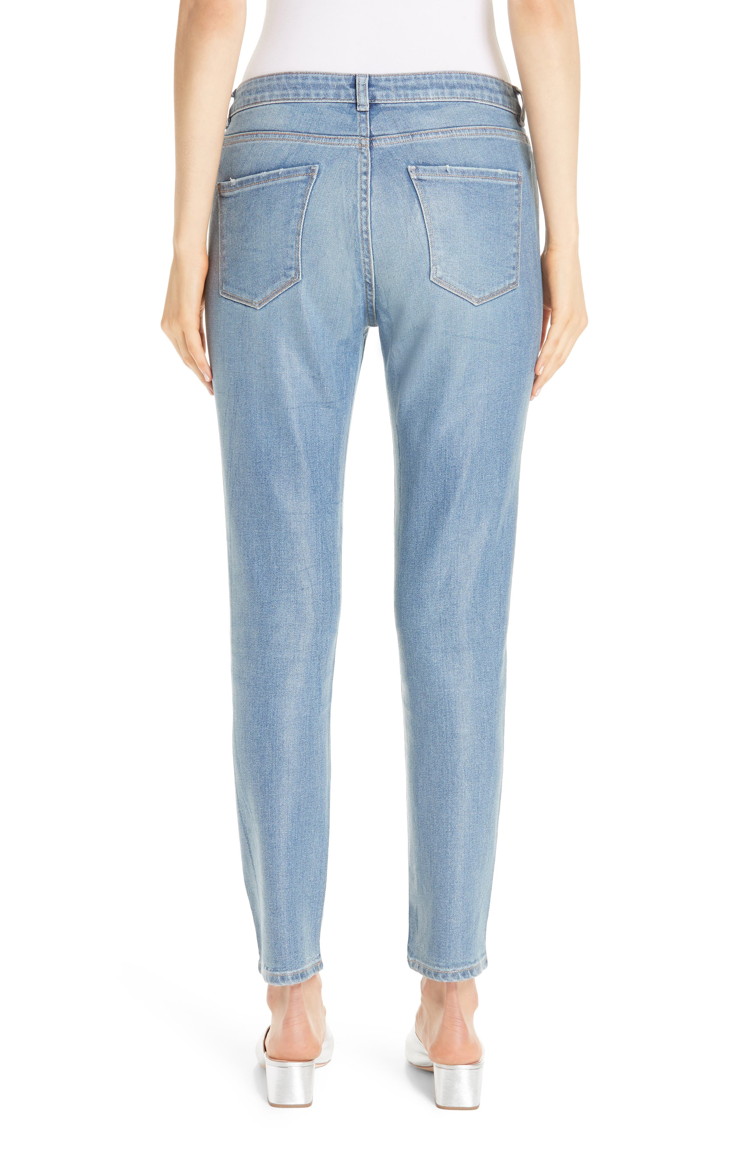 Coated Skinny Jeans with Tassel Charm,                             Alternate thumbnail 2, color,                             BLUE