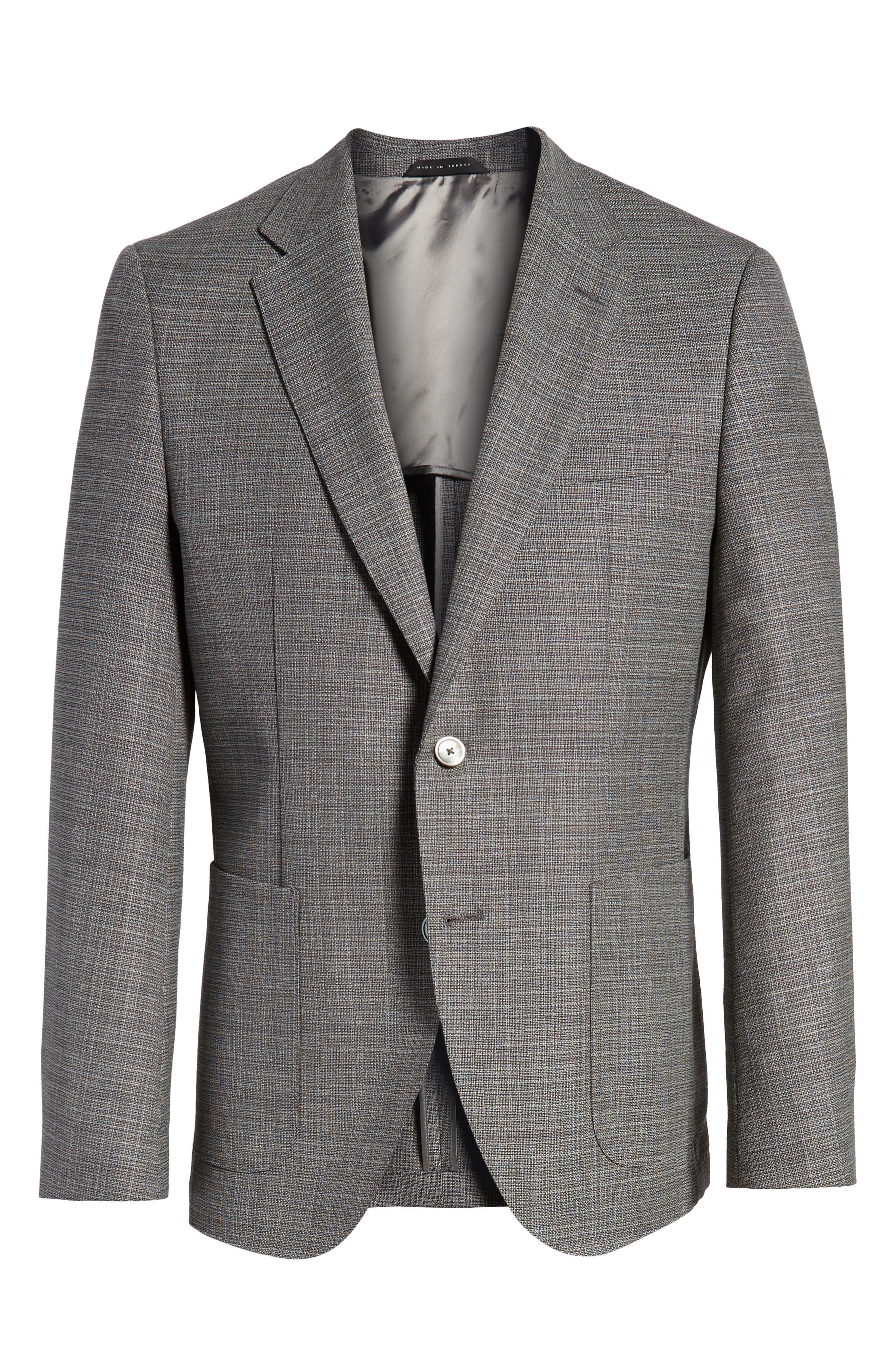 Janson Classic Fit Wool Blazer,                             Alternate thumbnail 5, color,                             GREY