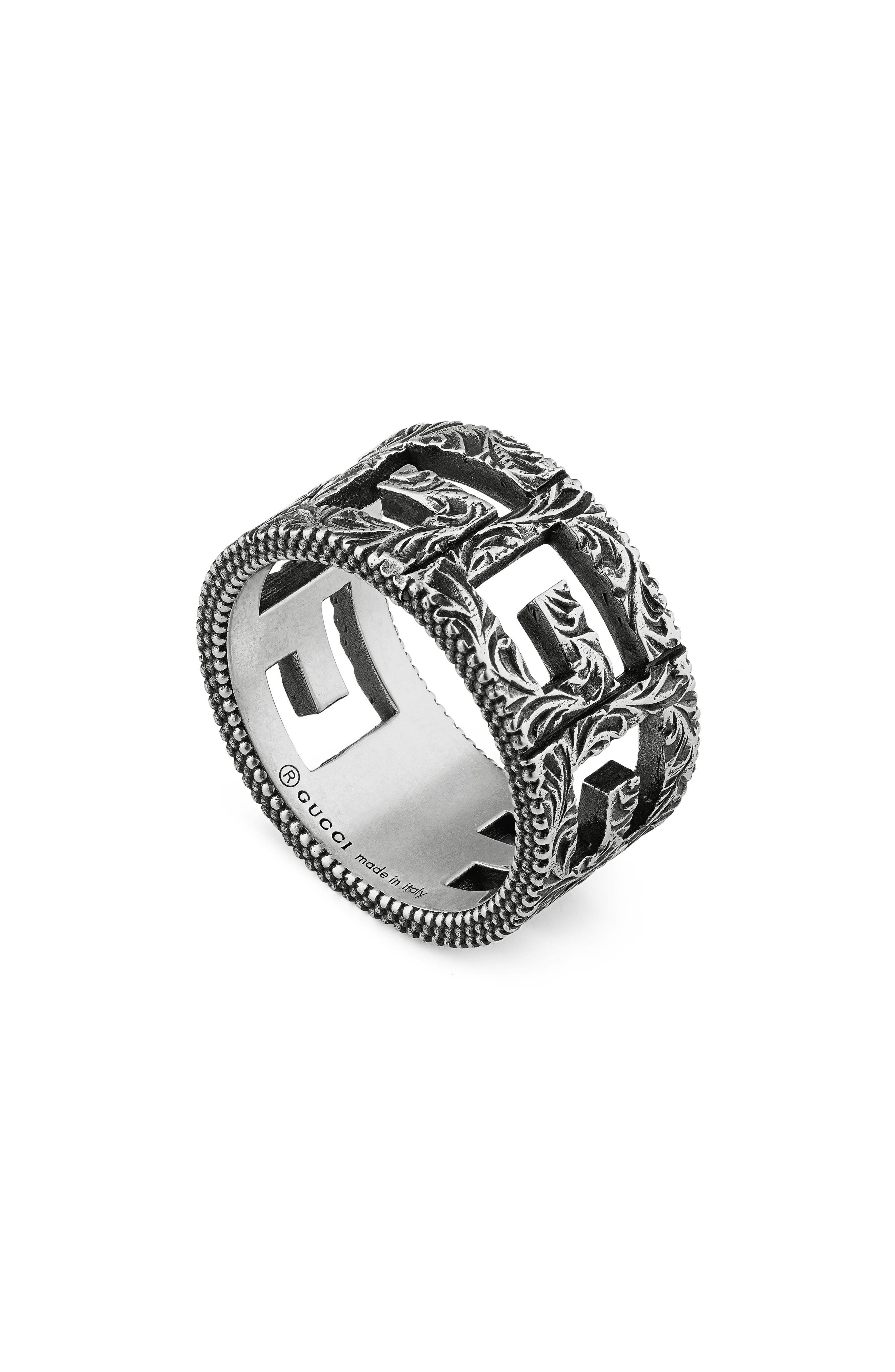 GUCCI G-Cube Cigar Band, Main, color, STERLING SILVER