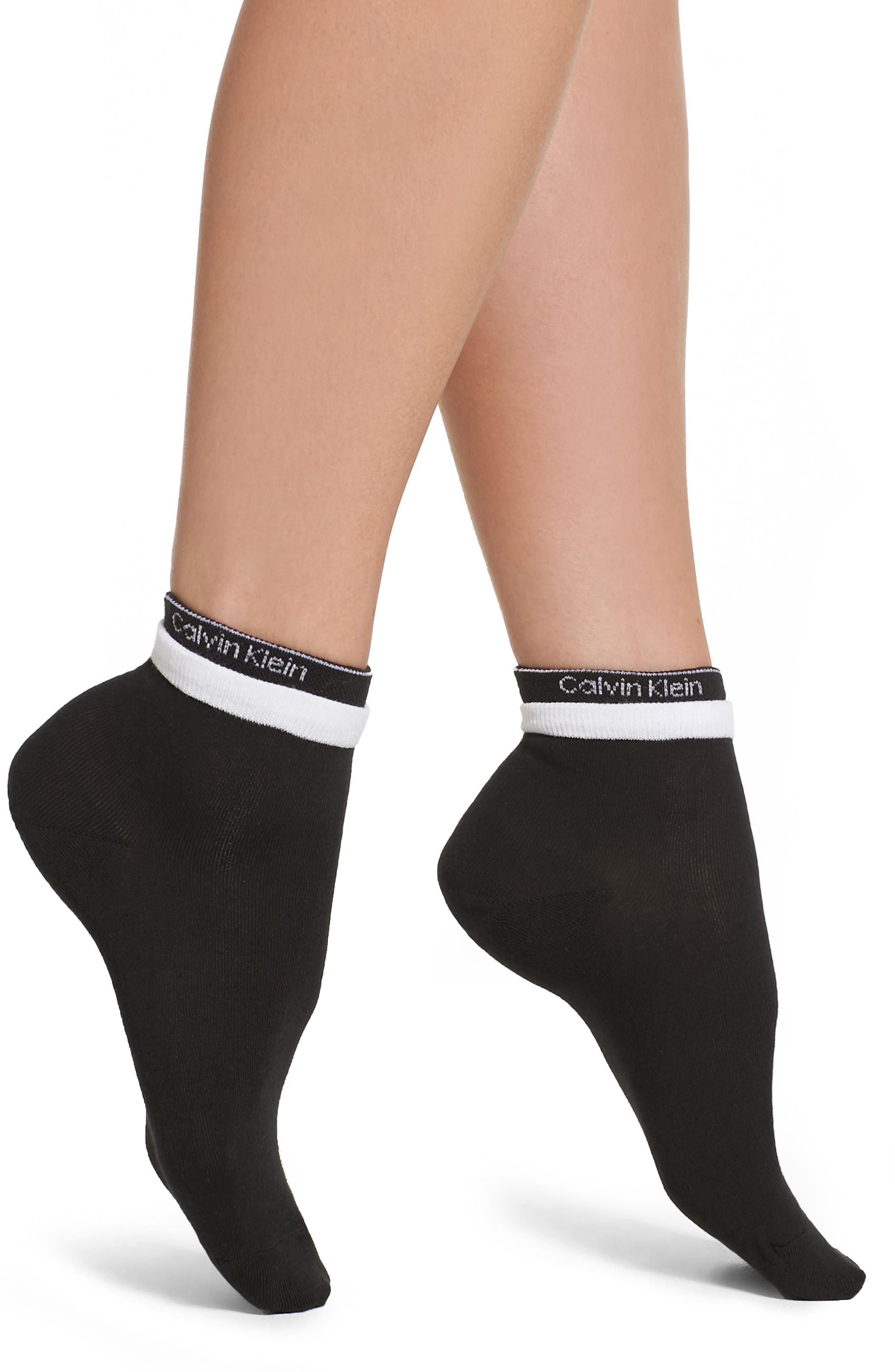 Modern Logo Ankle Socks,                         Main,                         color, 001