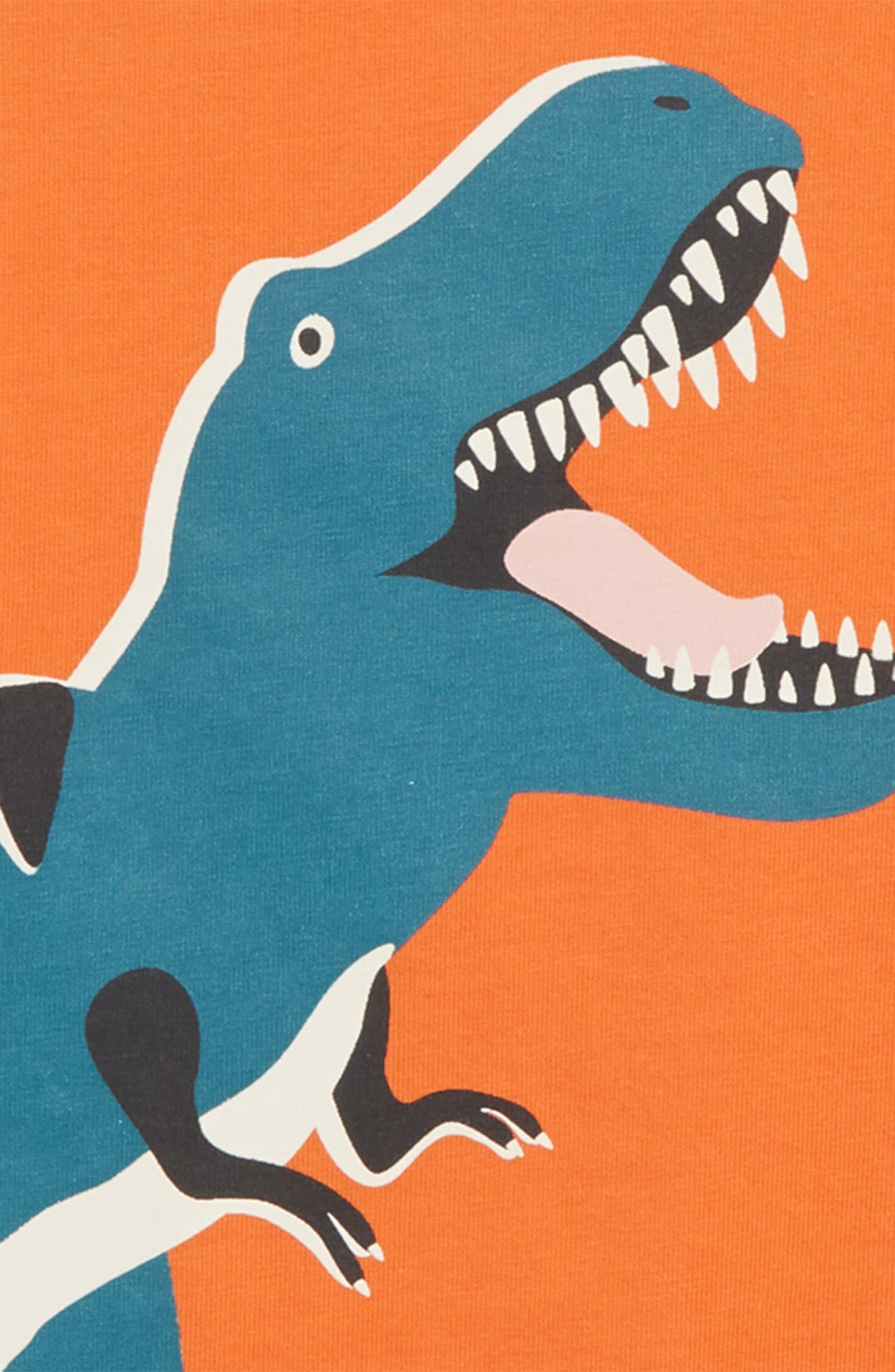 Glow in the Dark T-Rex T-Shirt,                             Alternate thumbnail 2, color,                             MANGO FIZZ ORANGE