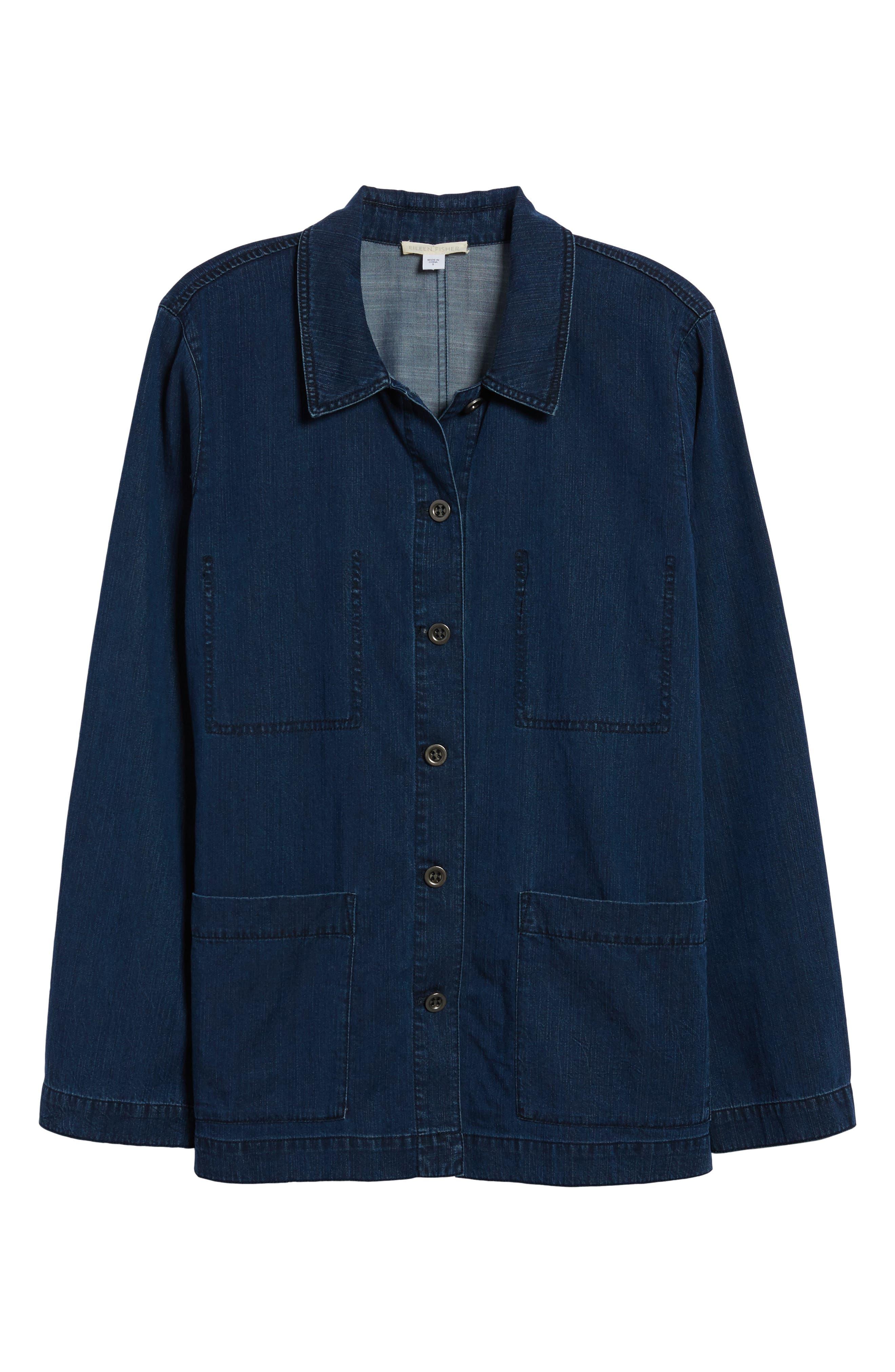 Soft Cotton Blend Denim Jacket,                             Alternate thumbnail 6, color,                             419