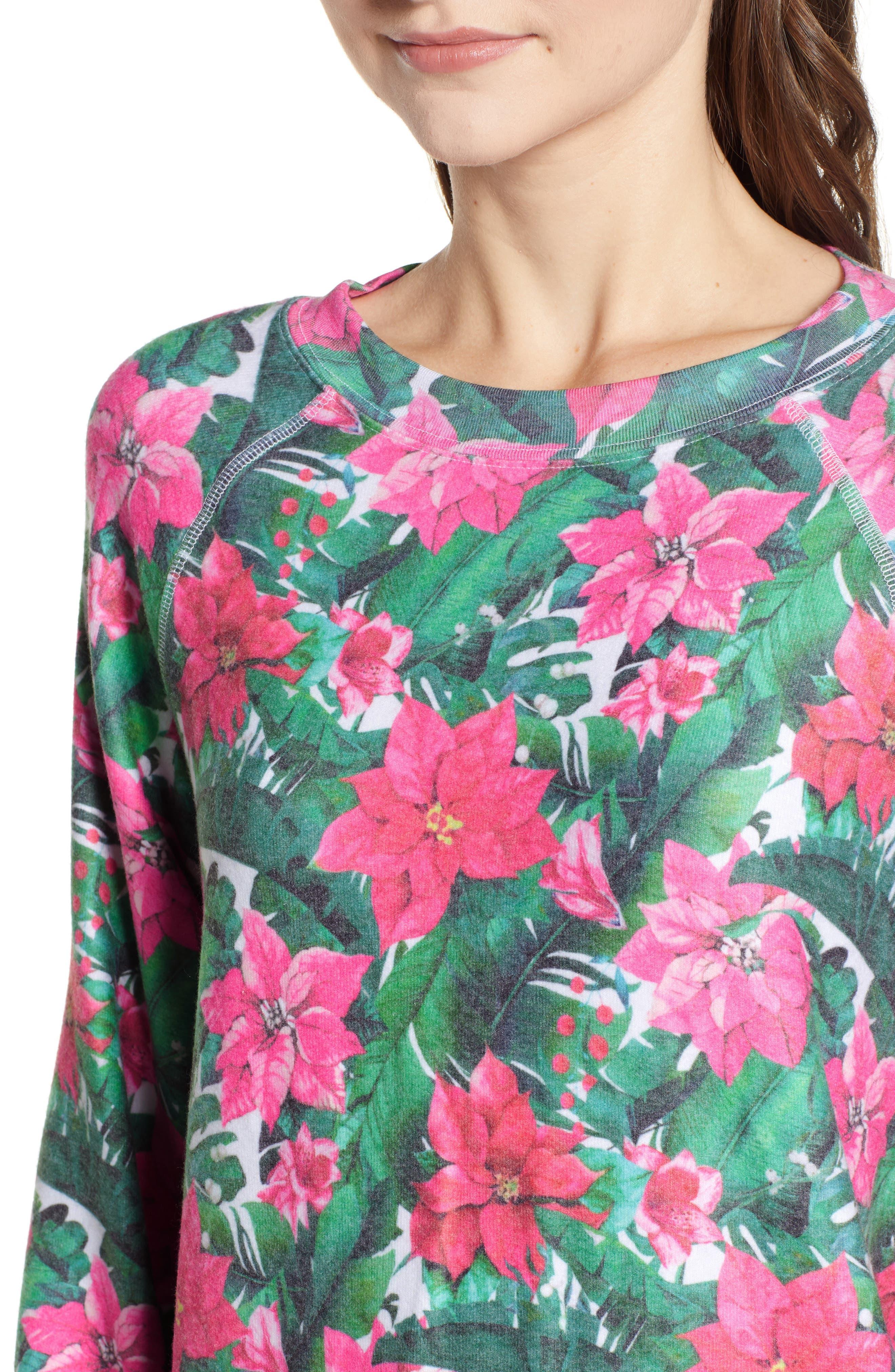 Island Holiday Sommers Sweatshirt,                             Alternate thumbnail 4, color,                             MULTI