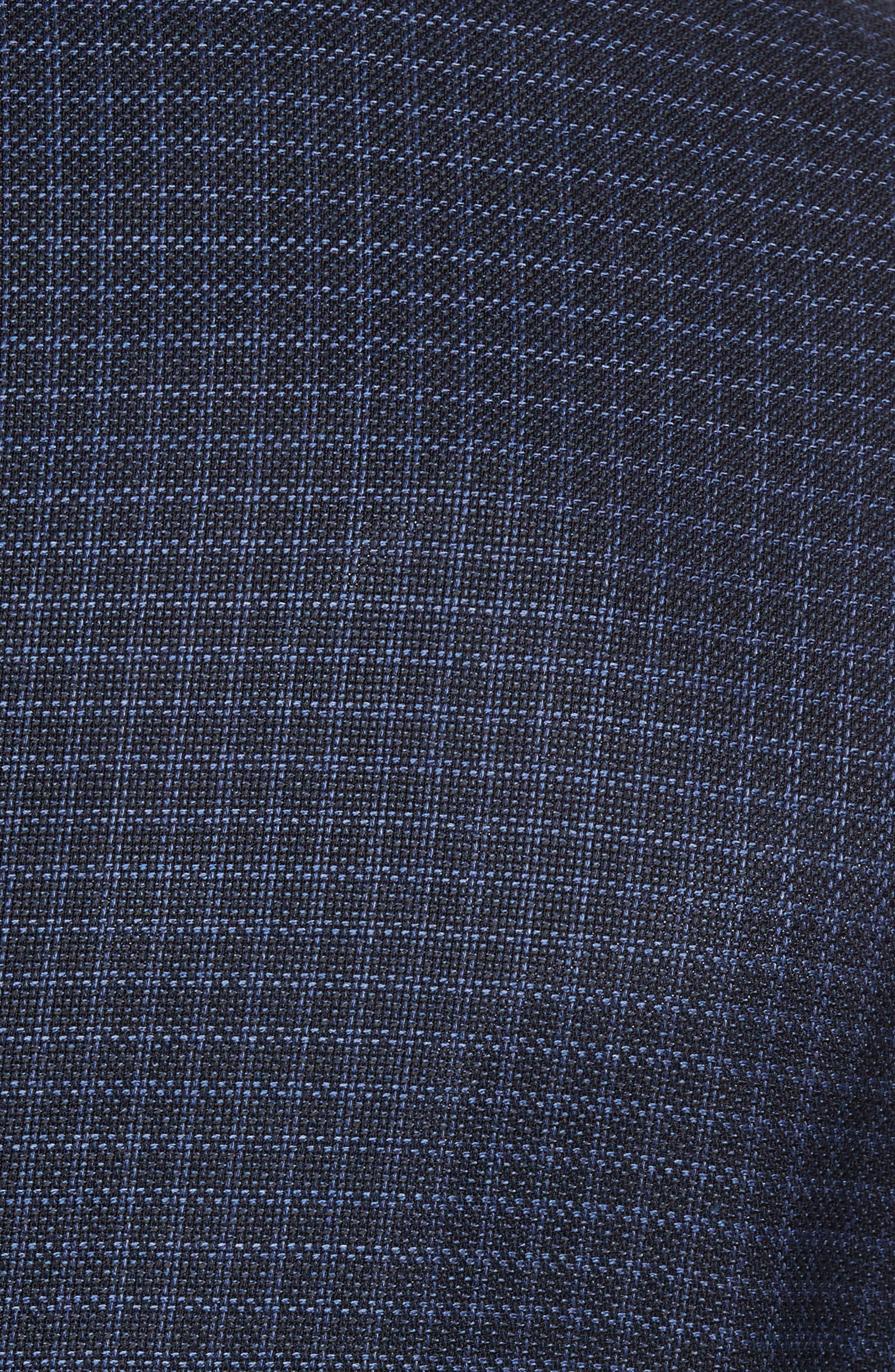 Nobis Trim Fit Check Wool Sport Coat,                             Alternate thumbnail 6, color,
