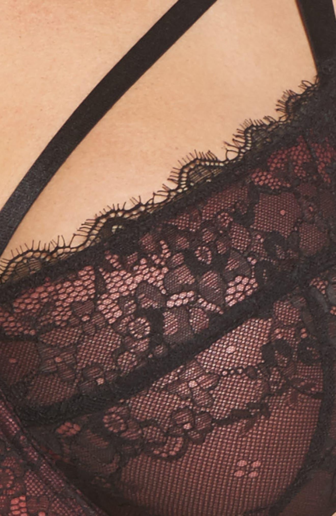 Gabi Fresh x Playful Promises Underwire Lace Harness Bra,                             Alternate thumbnail 7, color,