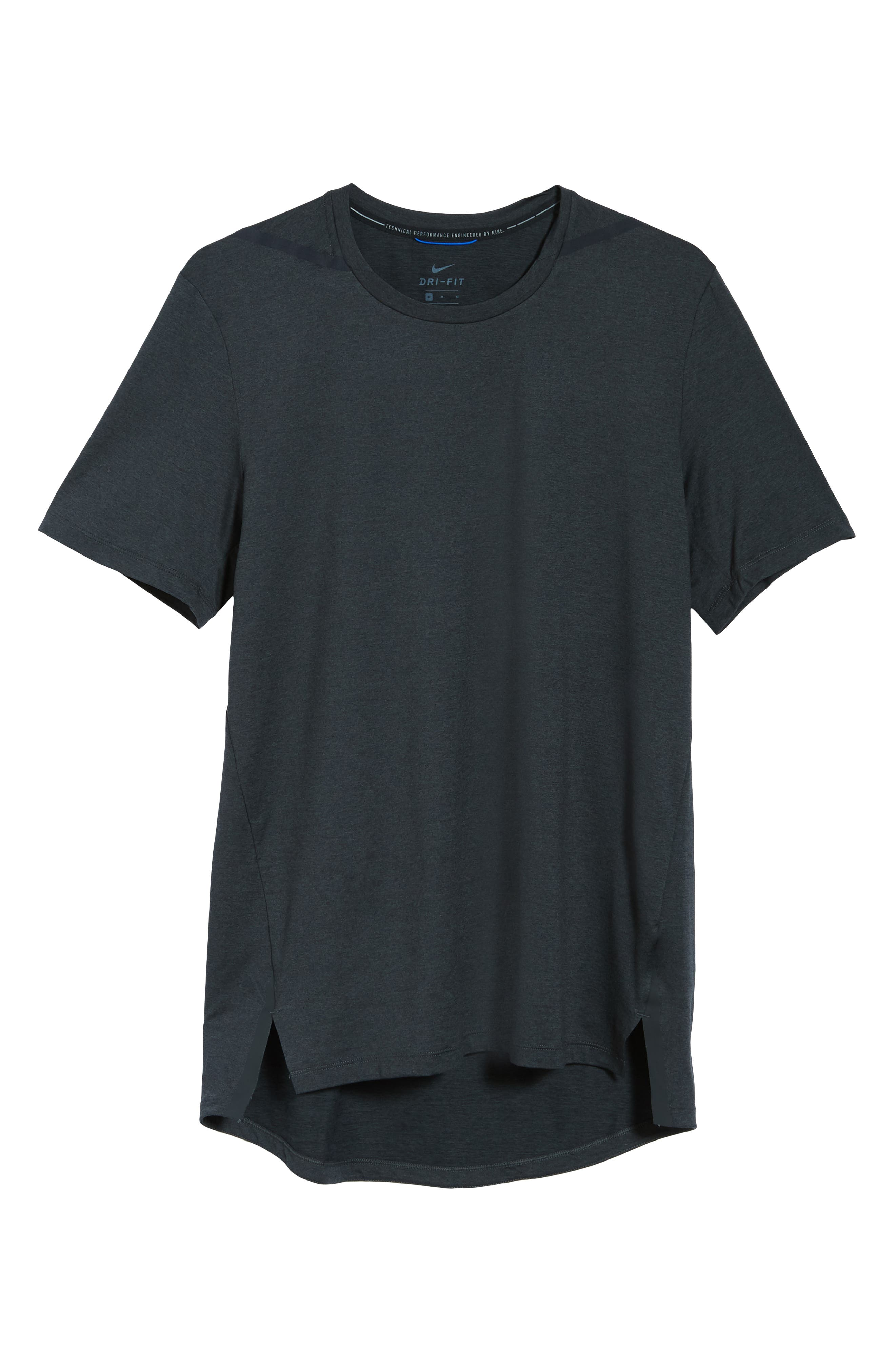 Dry Max Training T-Shirt,                             Alternate thumbnail 6, color,                             BLACK/ ANTHRACITE/ COBALT