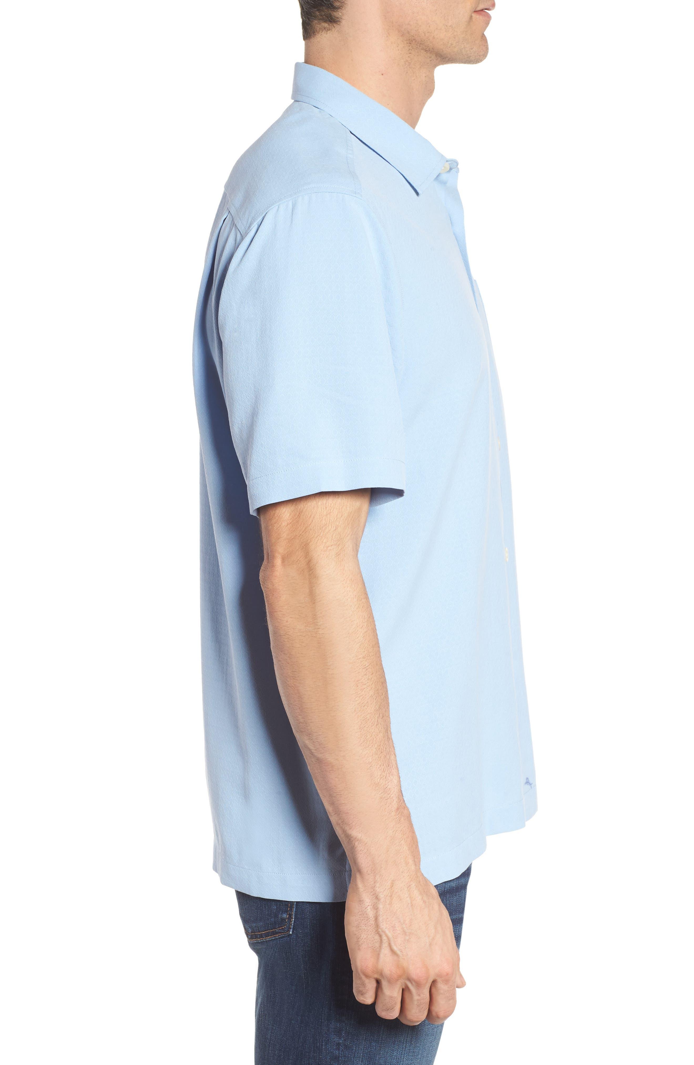 Oasis Jacquard Silk Sport Shirt,                             Alternate thumbnail 3, color,                             400