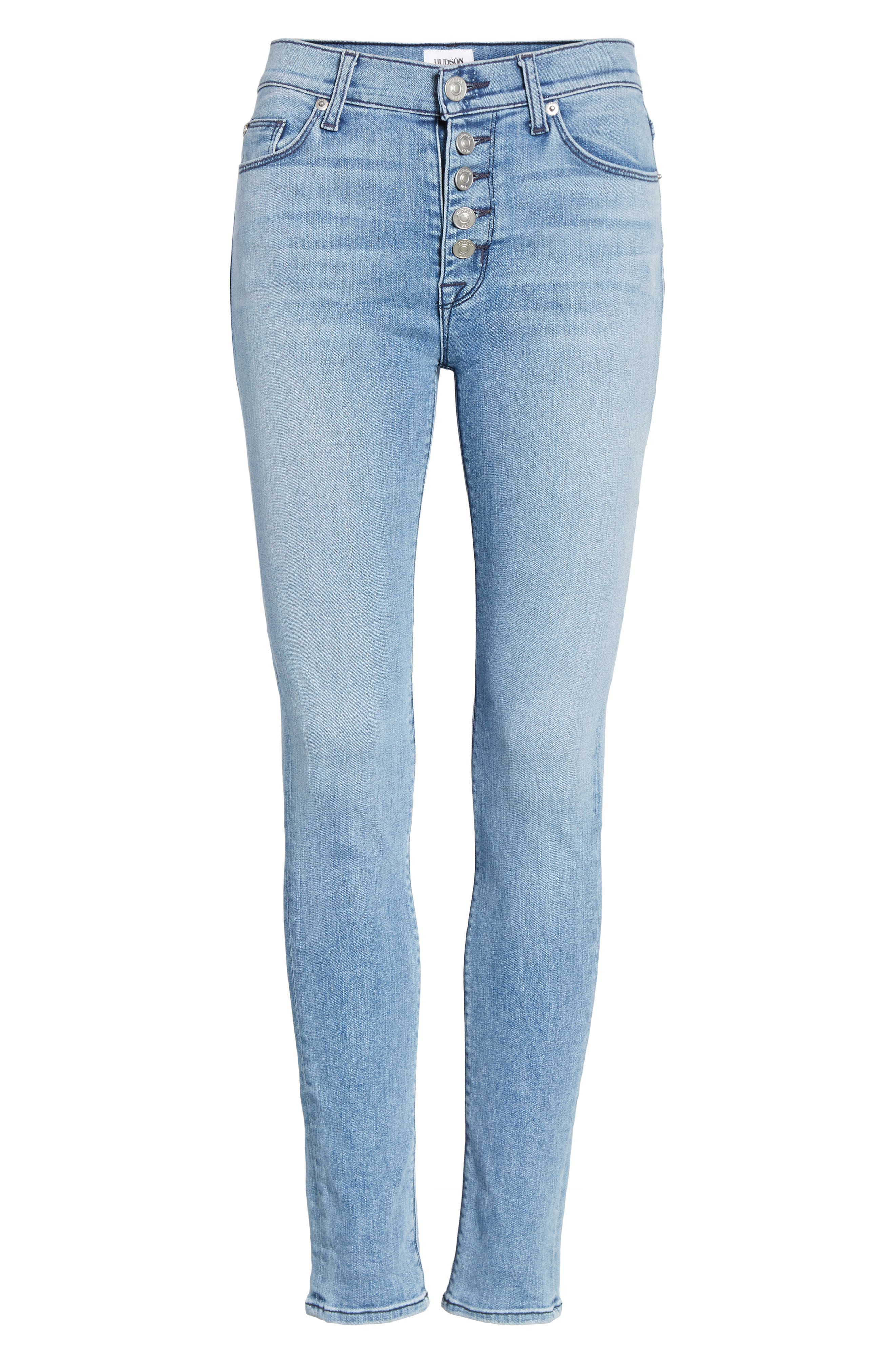 Ciara High Waist Skinny Jeans,                             Alternate thumbnail 11, color,