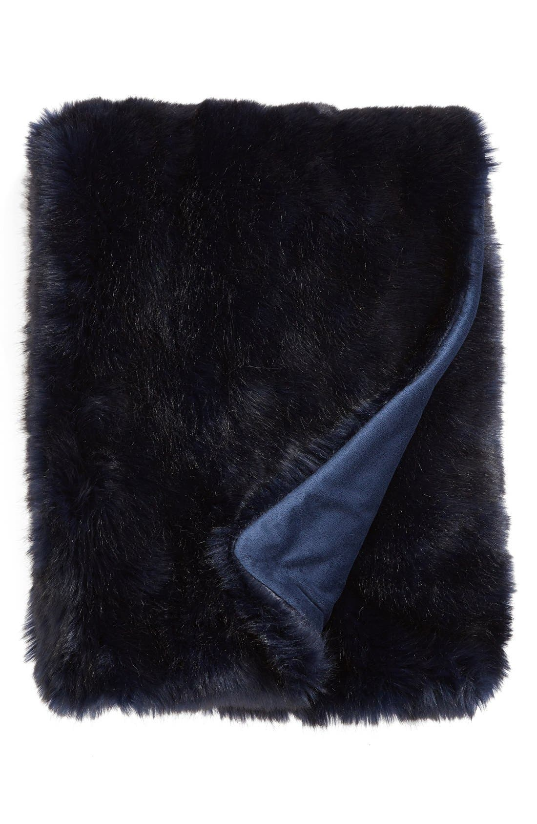 Cuddle Up Faux Fur Throw Blanket,                             Main thumbnail 14, color,
