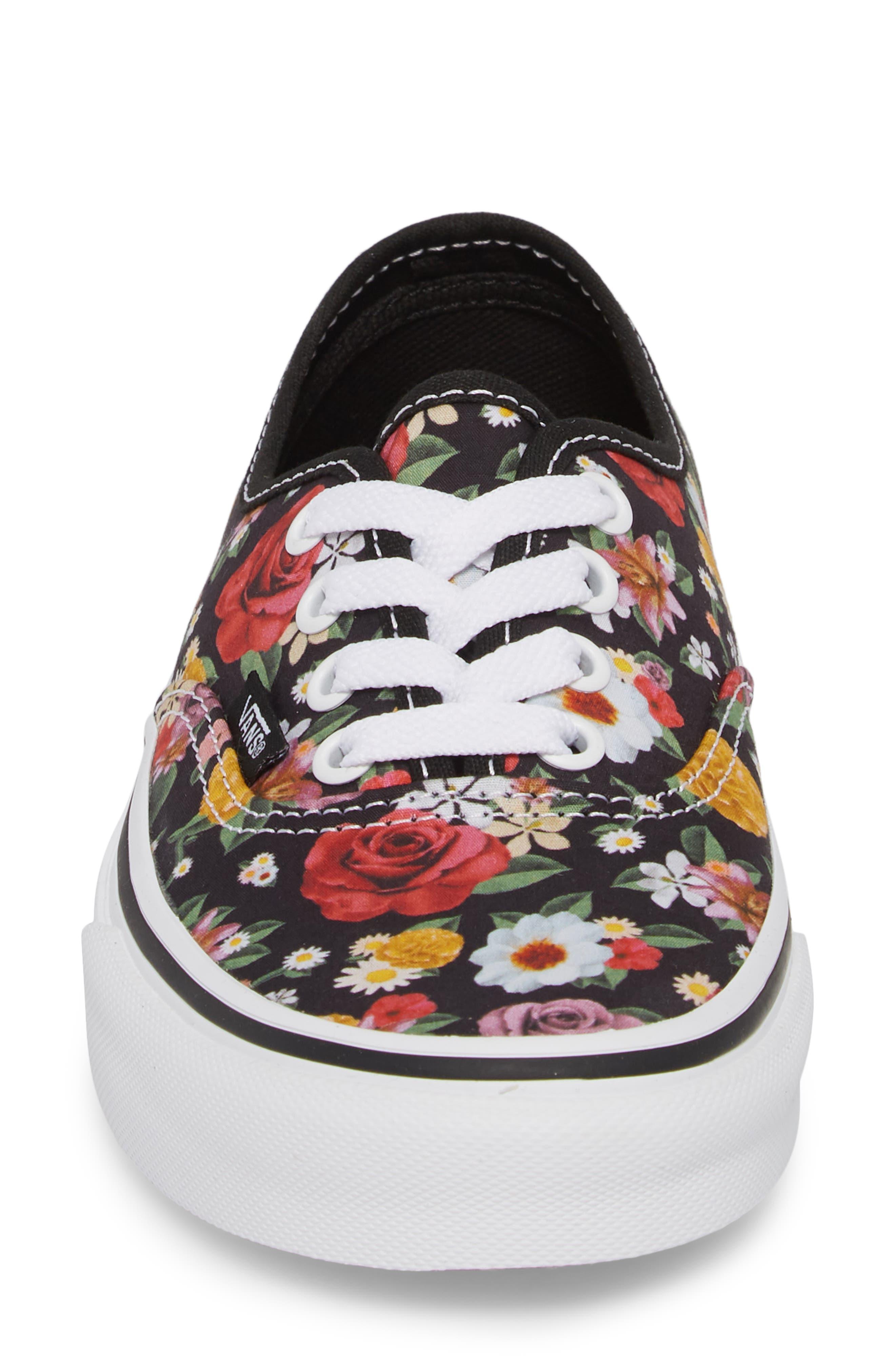 UA Authentic Lux Floral Sneaker,                             Alternate thumbnail 4, color,                             DIGI FLORAL/ BLACK