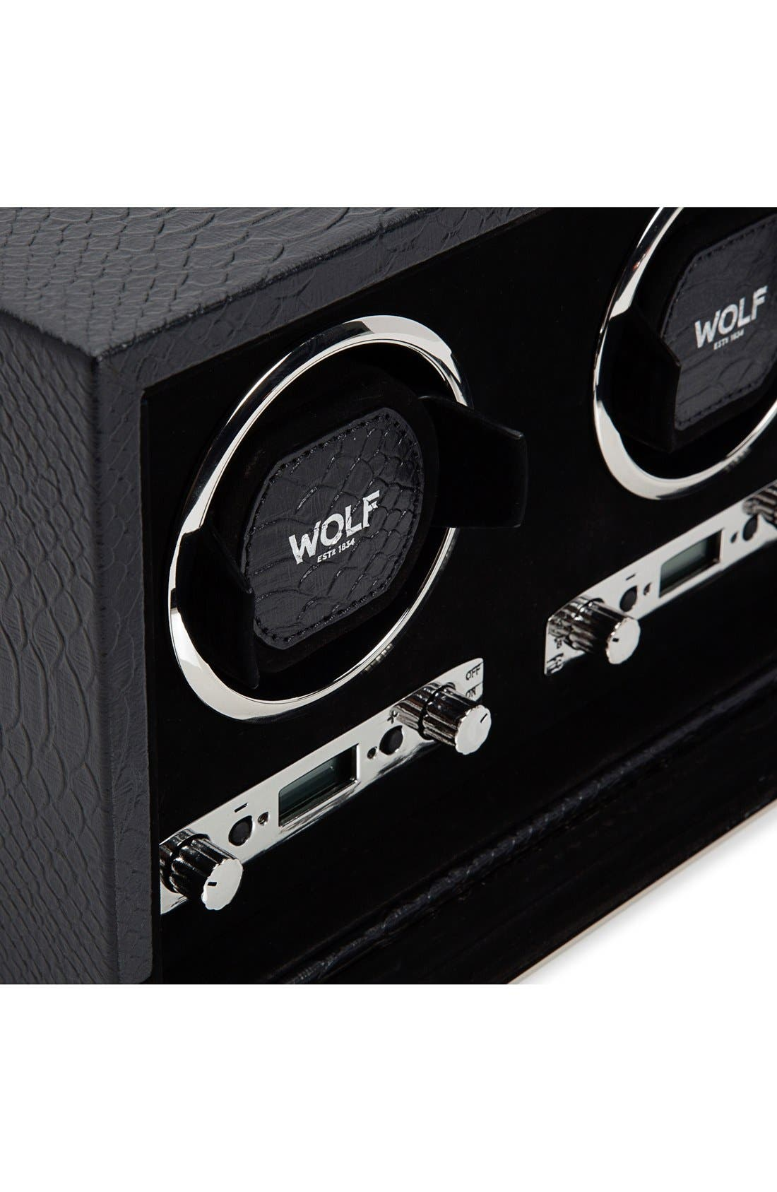 Exotic Triple Watch Winder,                             Alternate thumbnail 5, color,                             BLACK