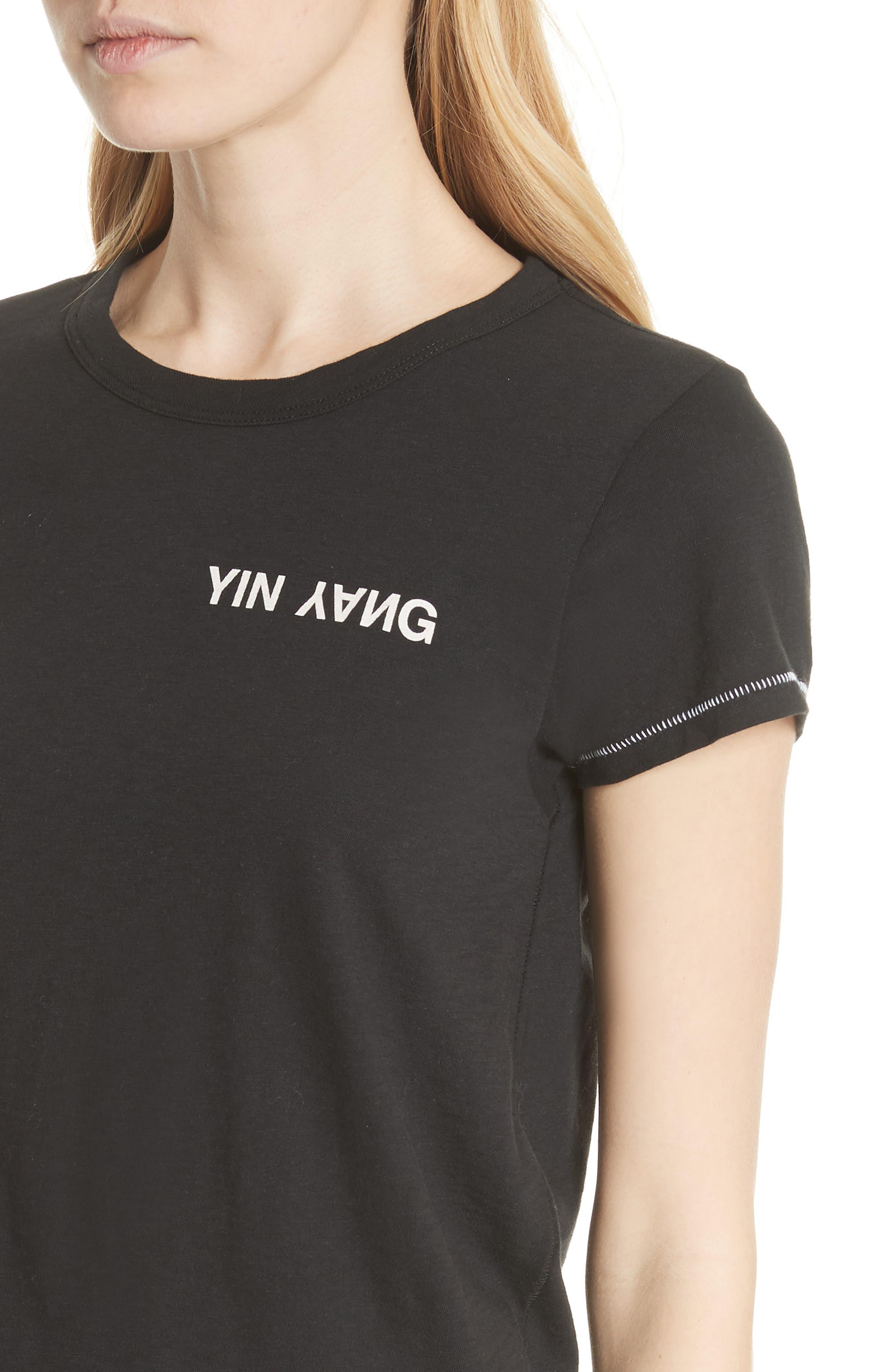 JEAN Yin Yang Tee,                             Alternate thumbnail 4, color,                             001