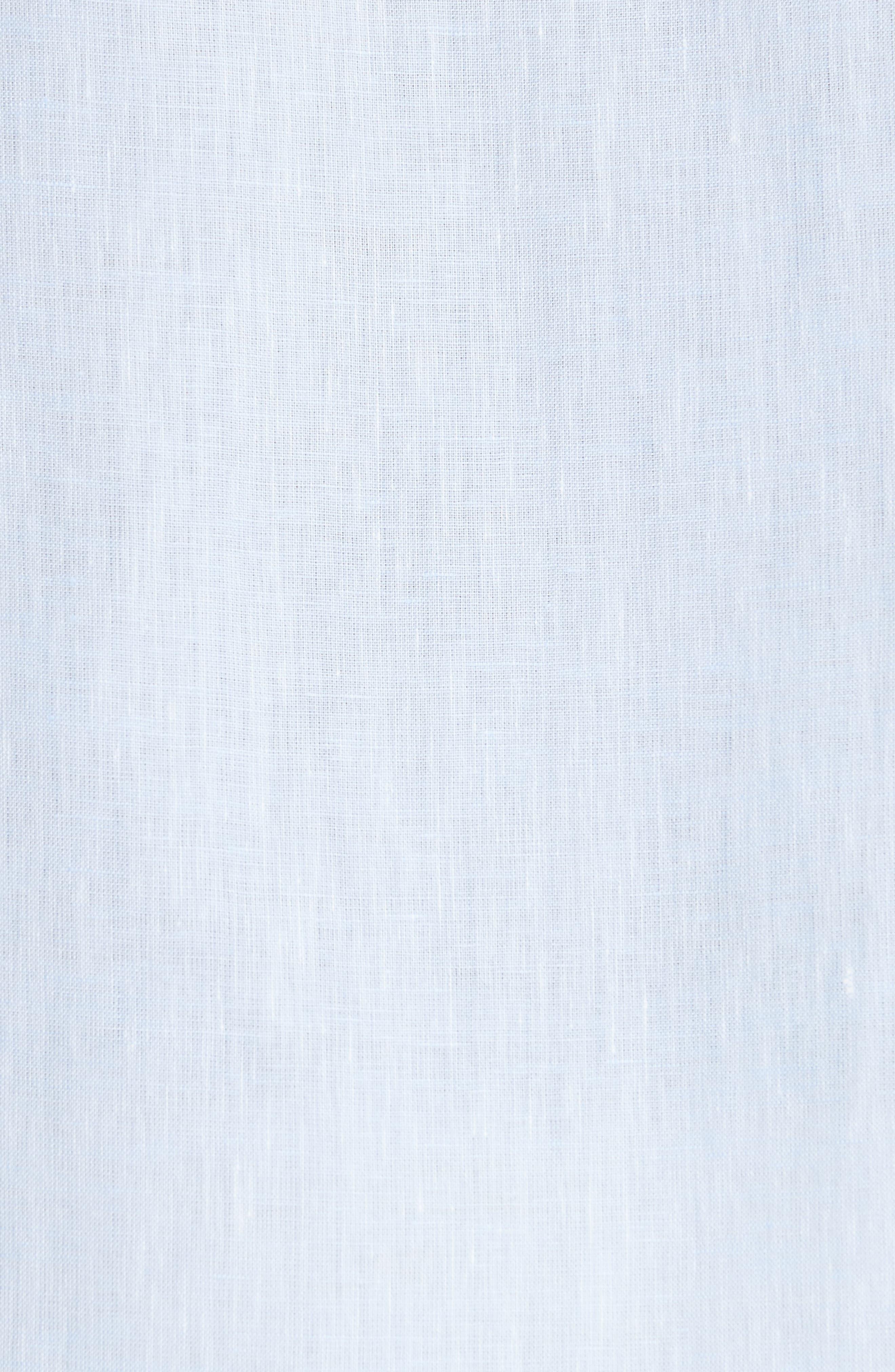 Regular Fit Linen Dress Shirt,                             Alternate thumbnail 10, color,