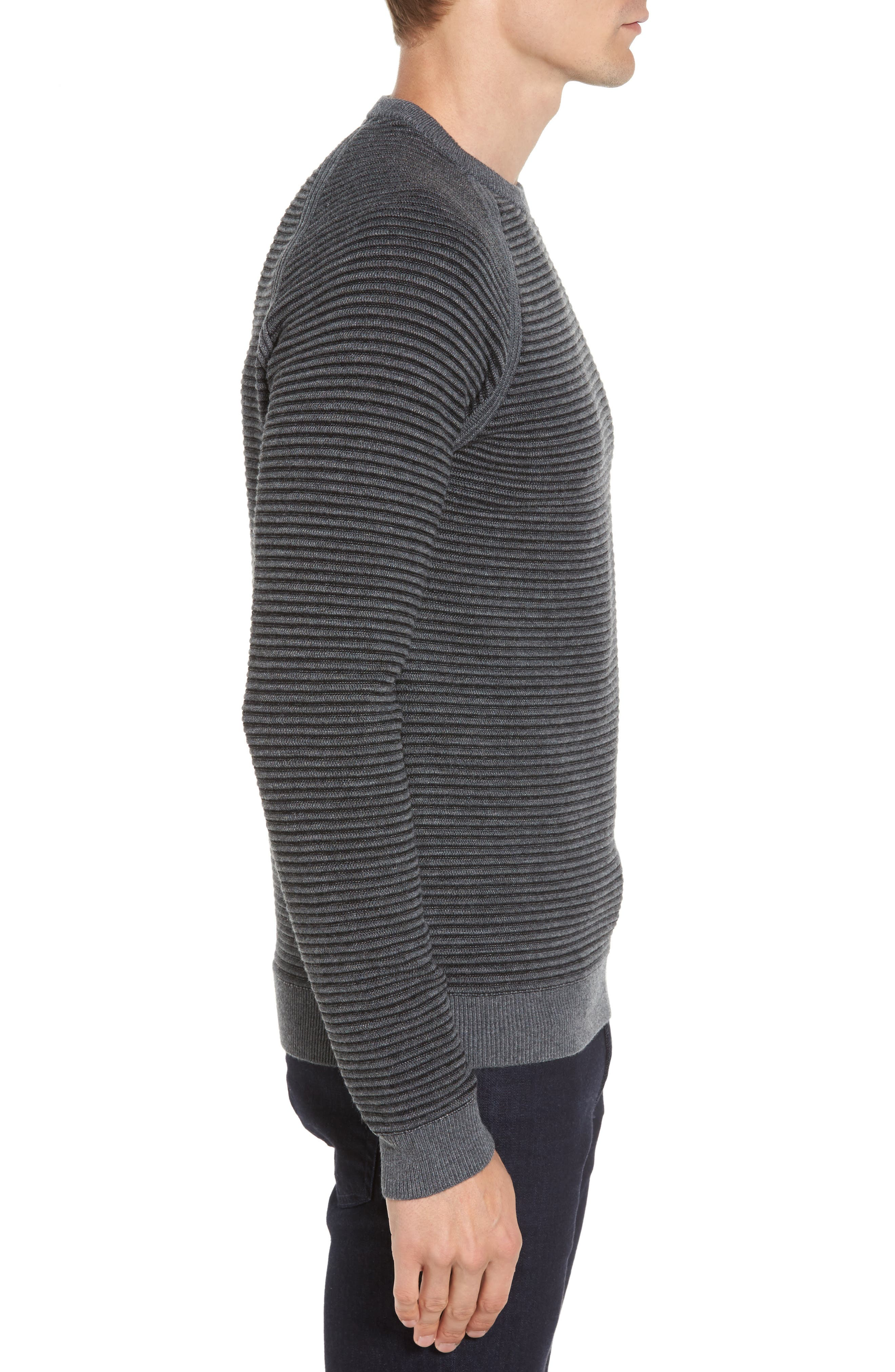 Cashoo Slim Fit Ribbed Sweatshirt,                             Alternate thumbnail 3, color,                             030
