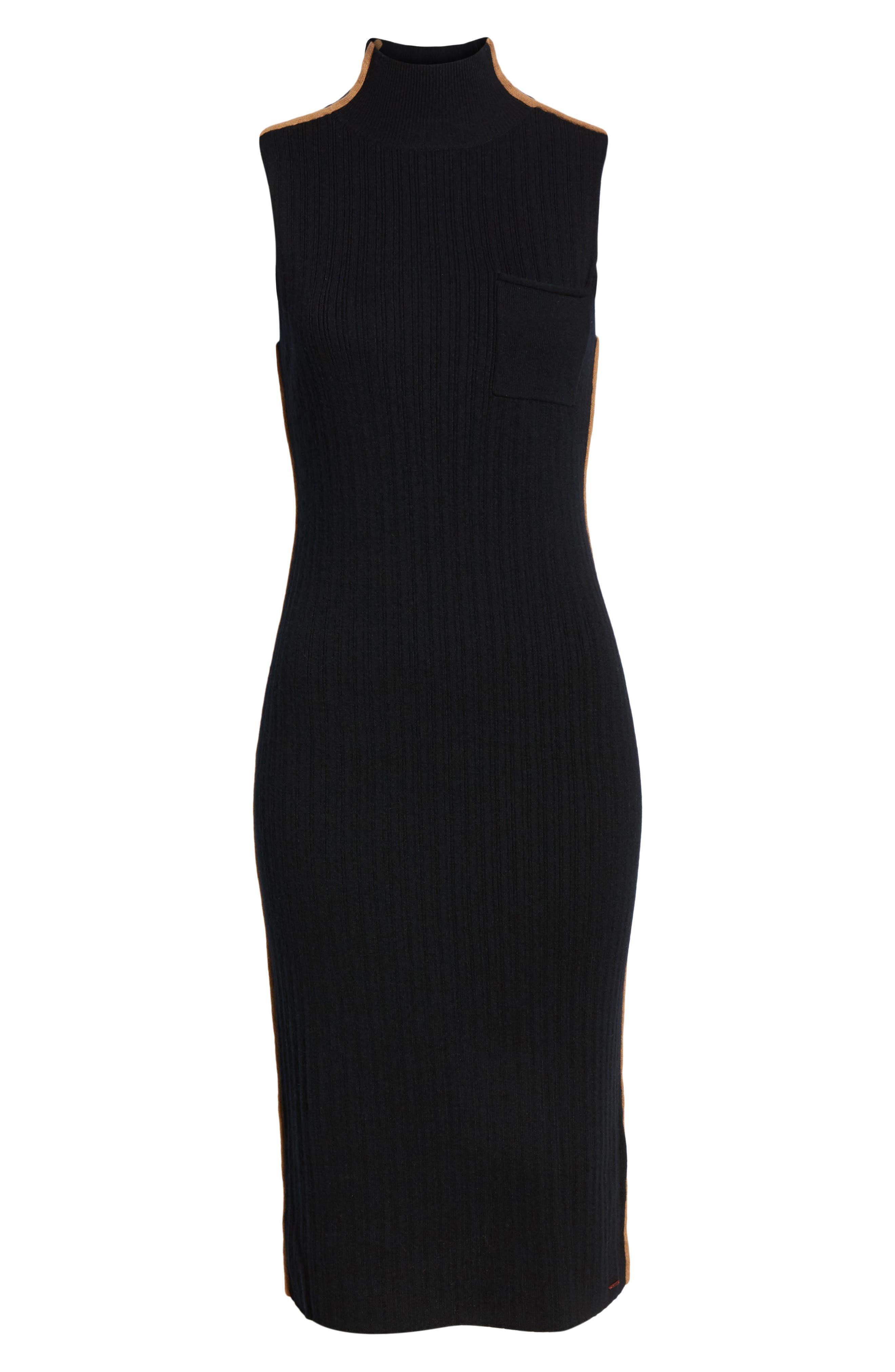N:PHILANTHROPY,                             Henry Sweater Dress,                             Alternate thumbnail 7, color,                             BLACK CAT