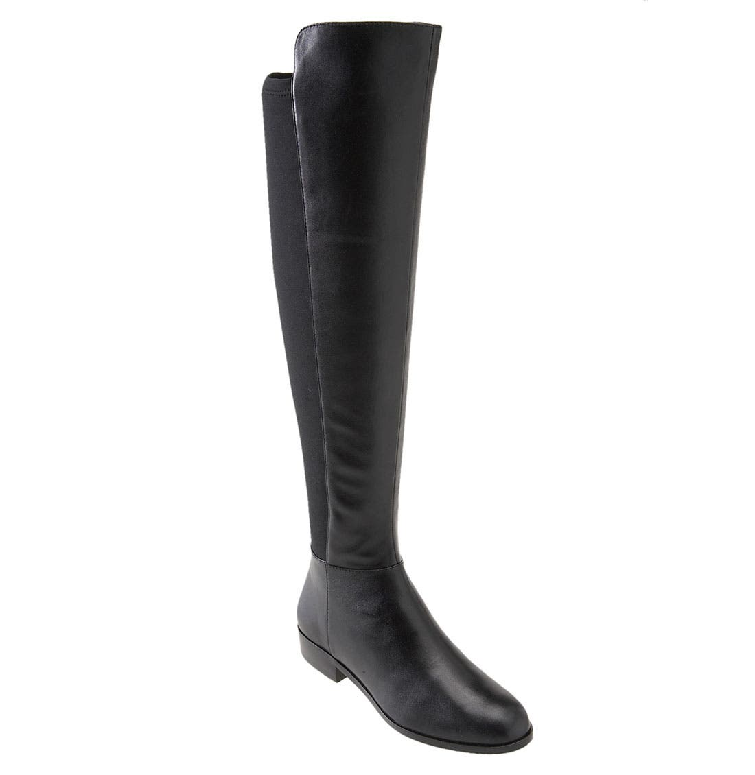 'Bromley' Over the Knee Boot,                             Main thumbnail 1, color,                             001