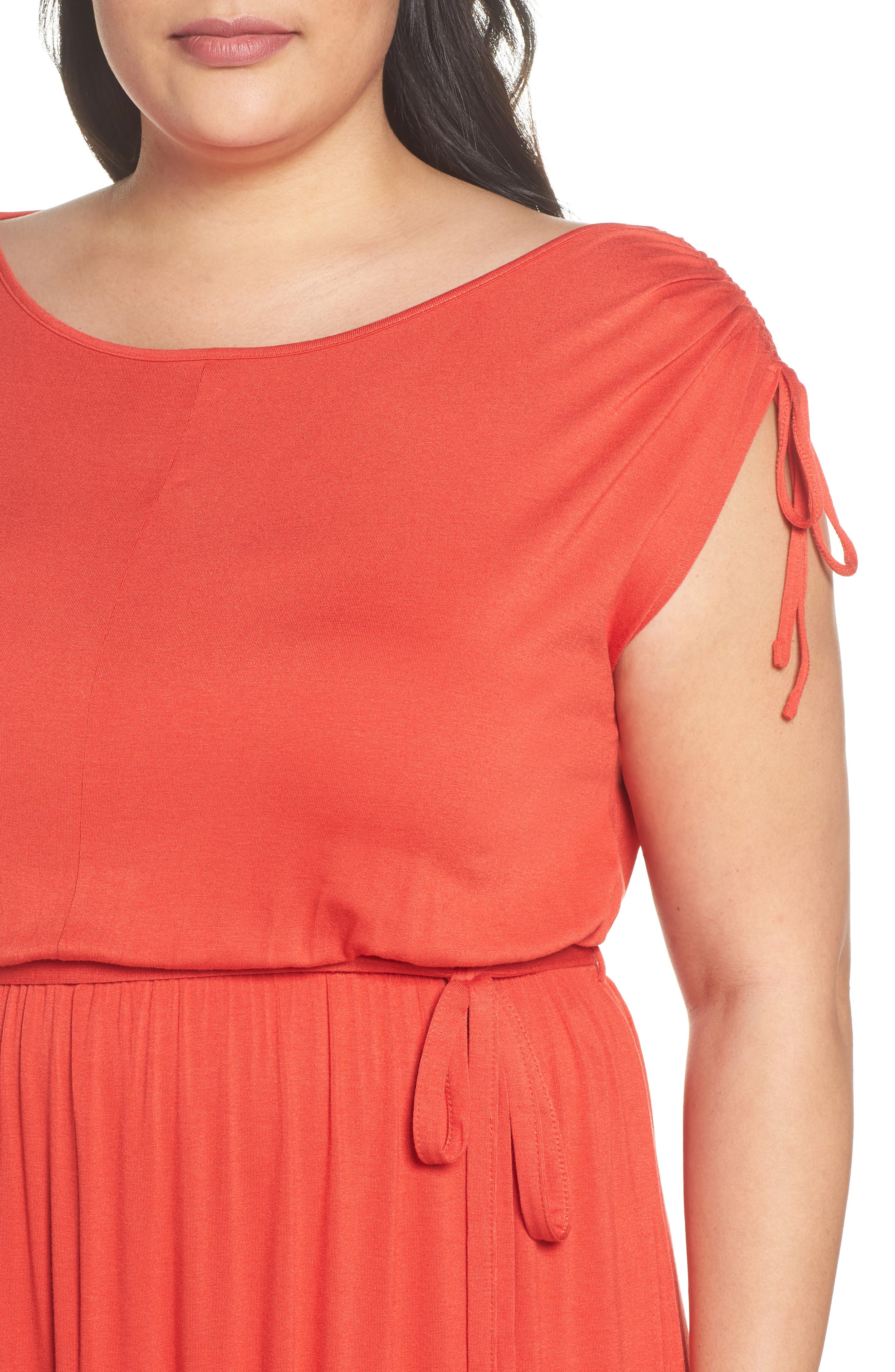 Jersey A-Line Dress,                             Alternate thumbnail 4, color,                             950
