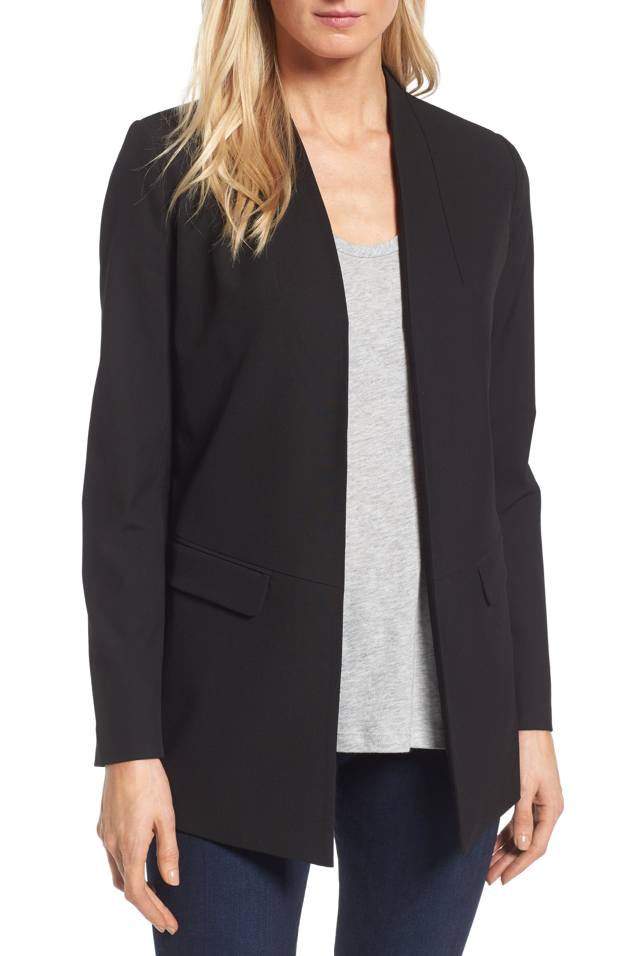No-Closure Blazer,                         Main,                         color, 001