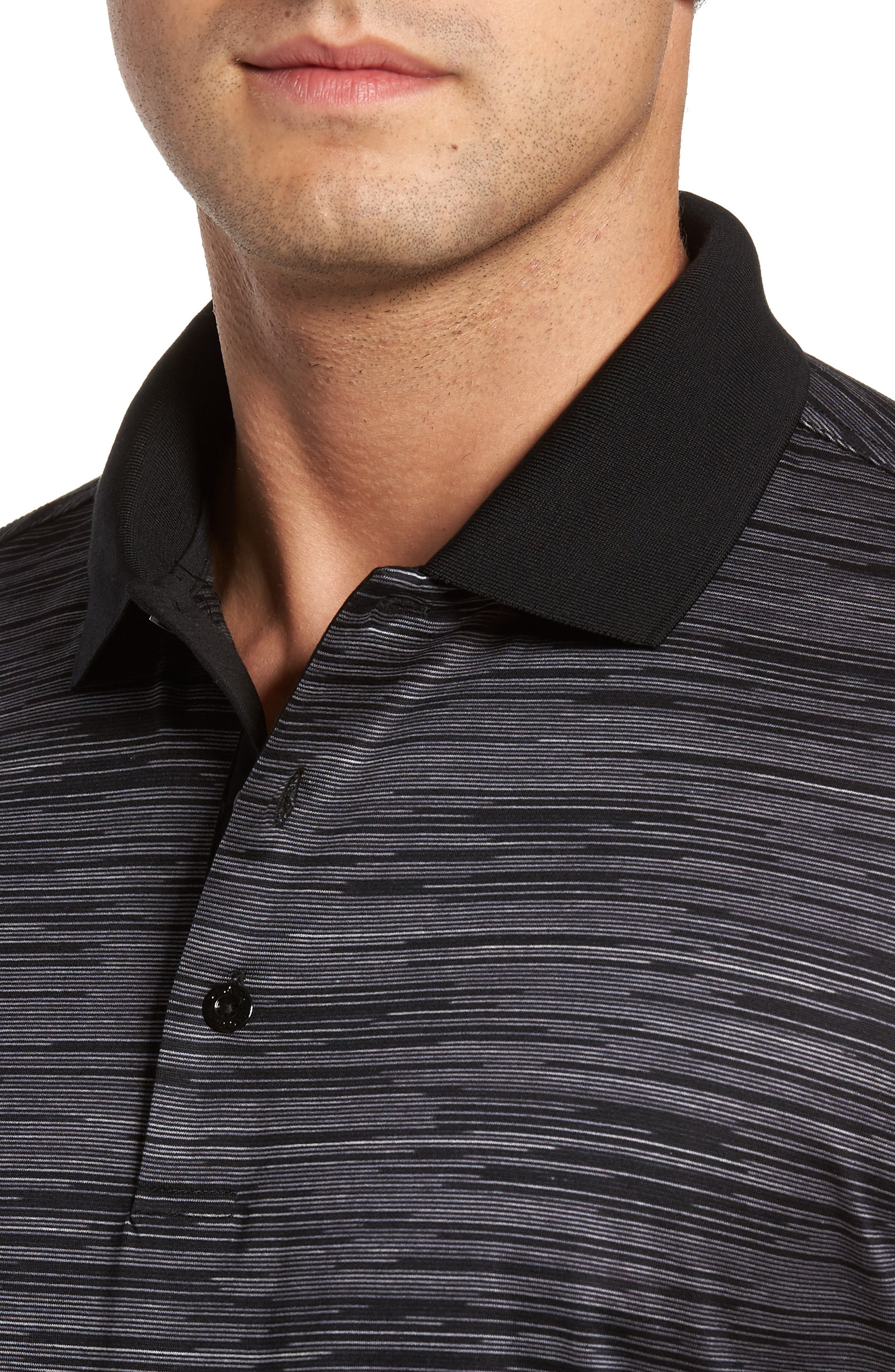 Classic Fit Space Dye Jersey Polo,                             Alternate thumbnail 4, color,                             001