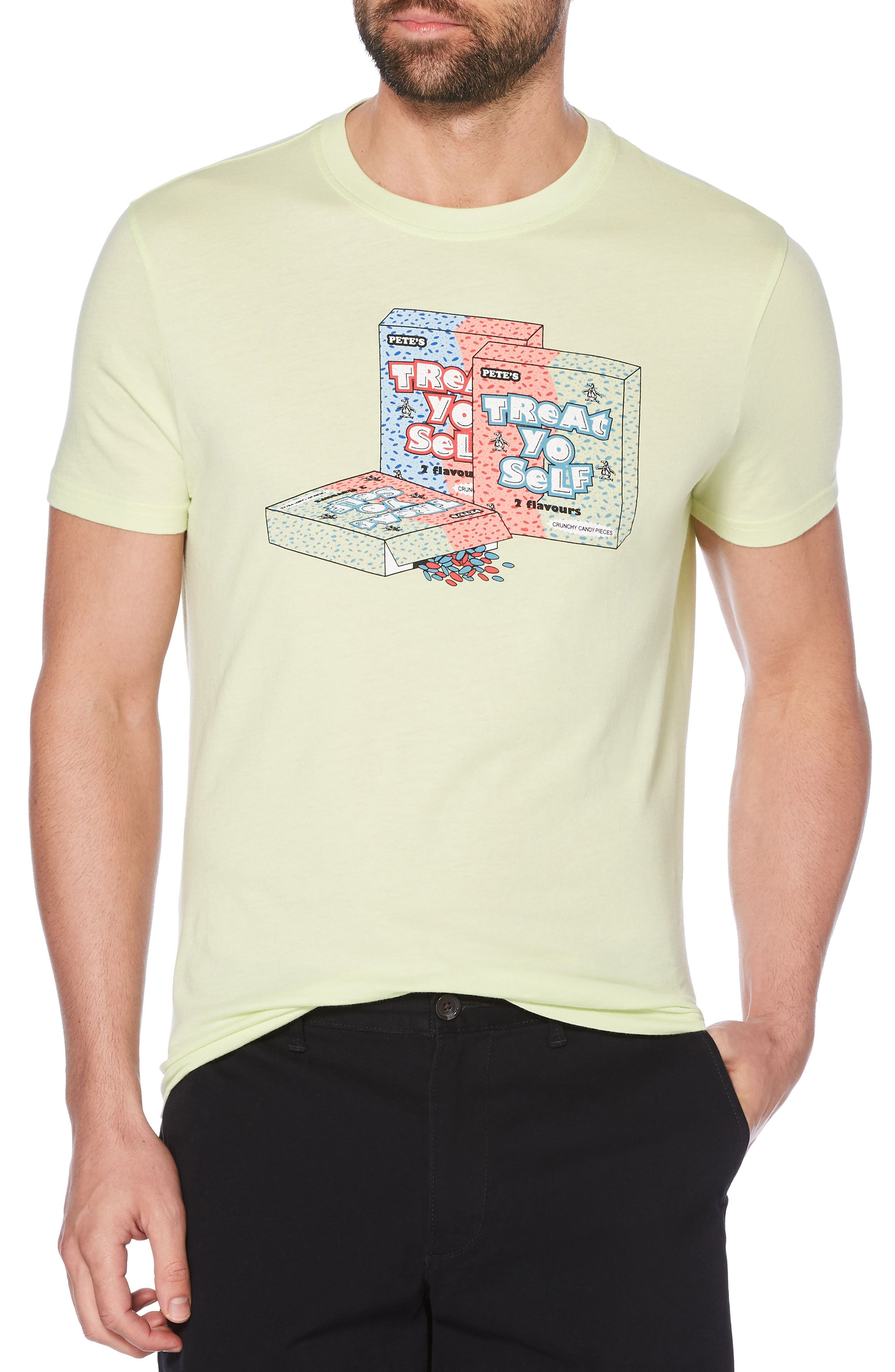 Treat Yo Self T-Shirt,                             Main thumbnail 2, color,