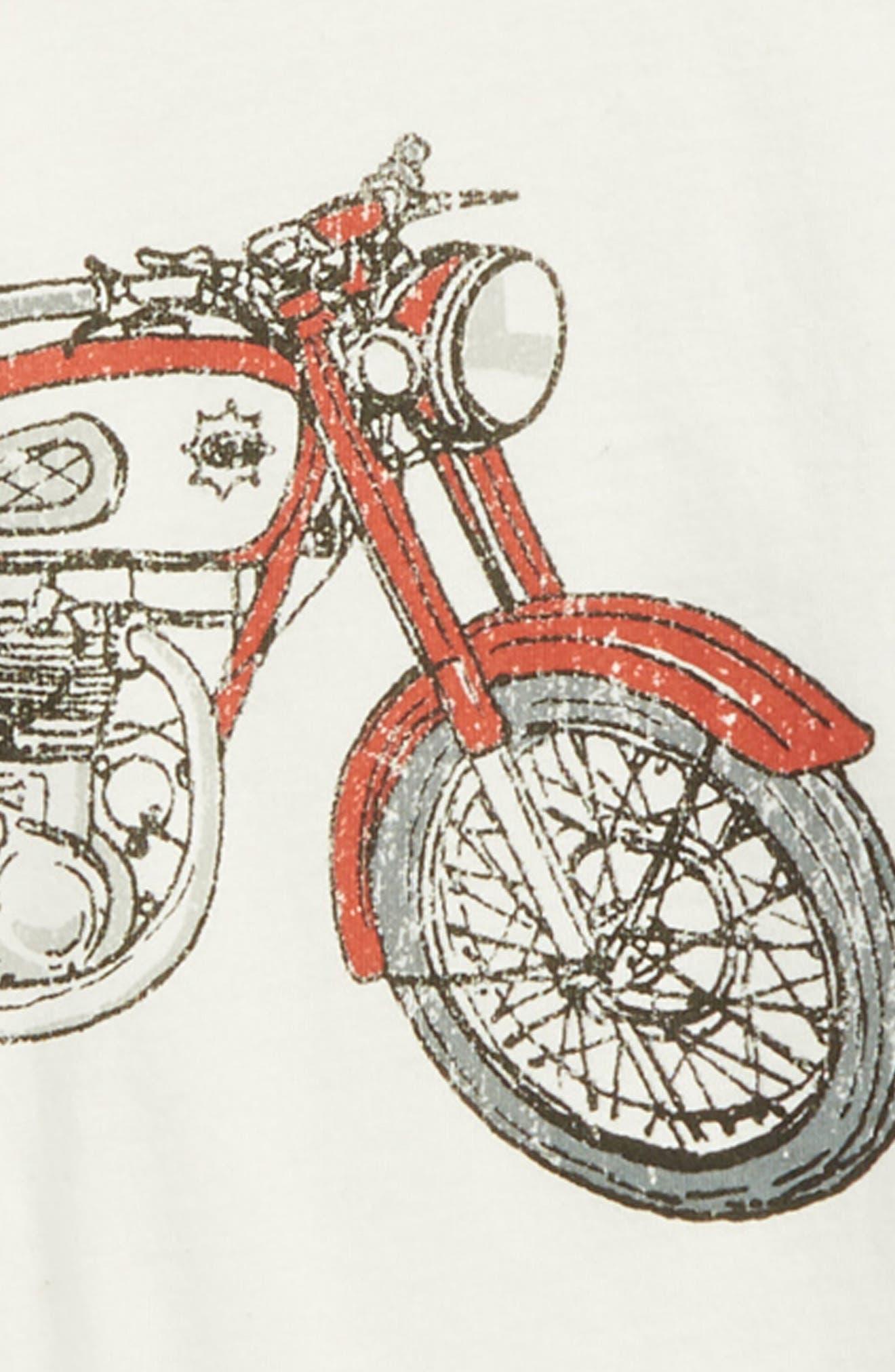 CHASER,                             Motorcycle Raglan Shirt,                             Alternate thumbnail 2, color,                             BLACK