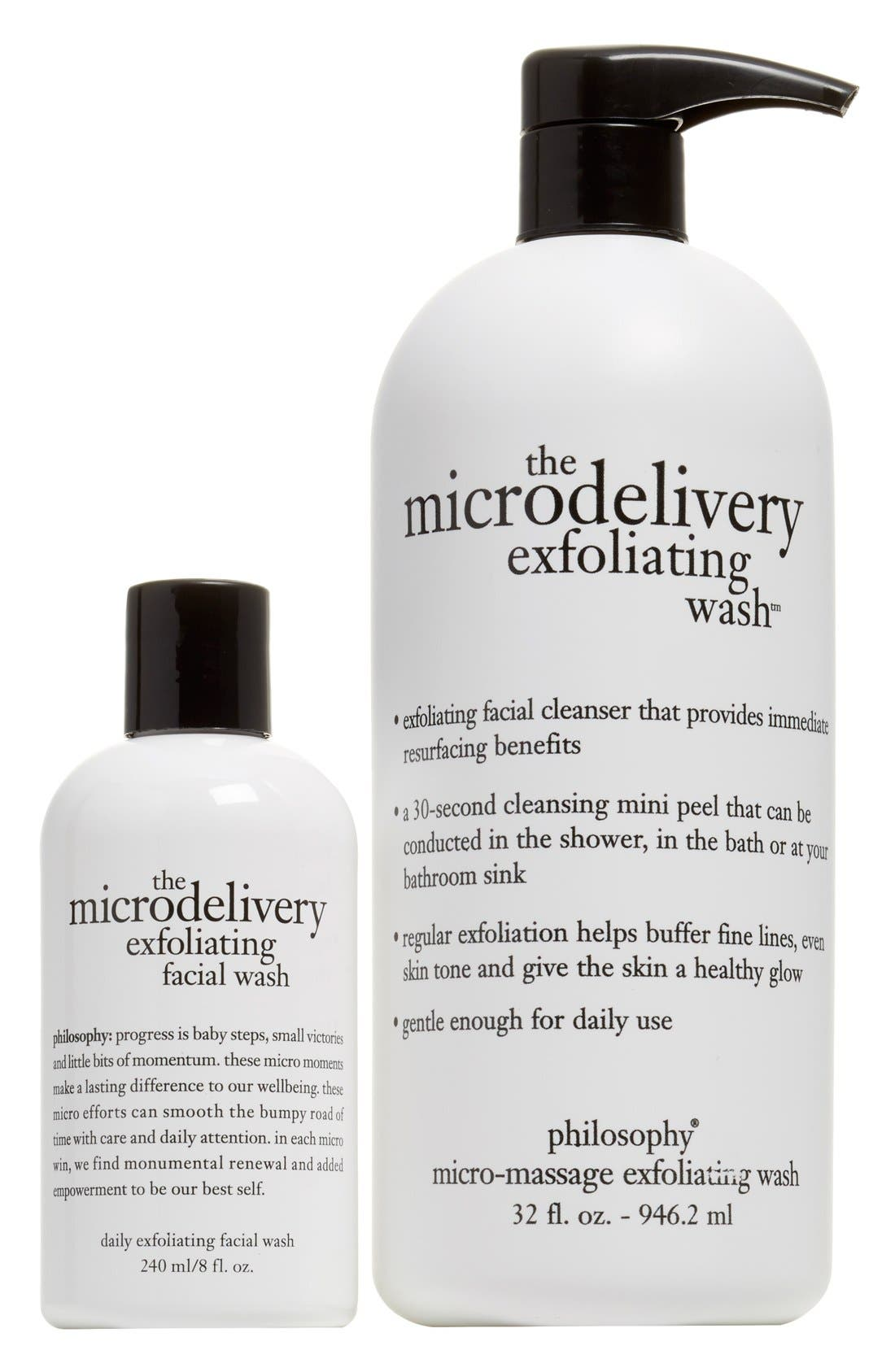 'the microdelivery' exfoliating wash duo,                             Main thumbnail 1, color,                             000