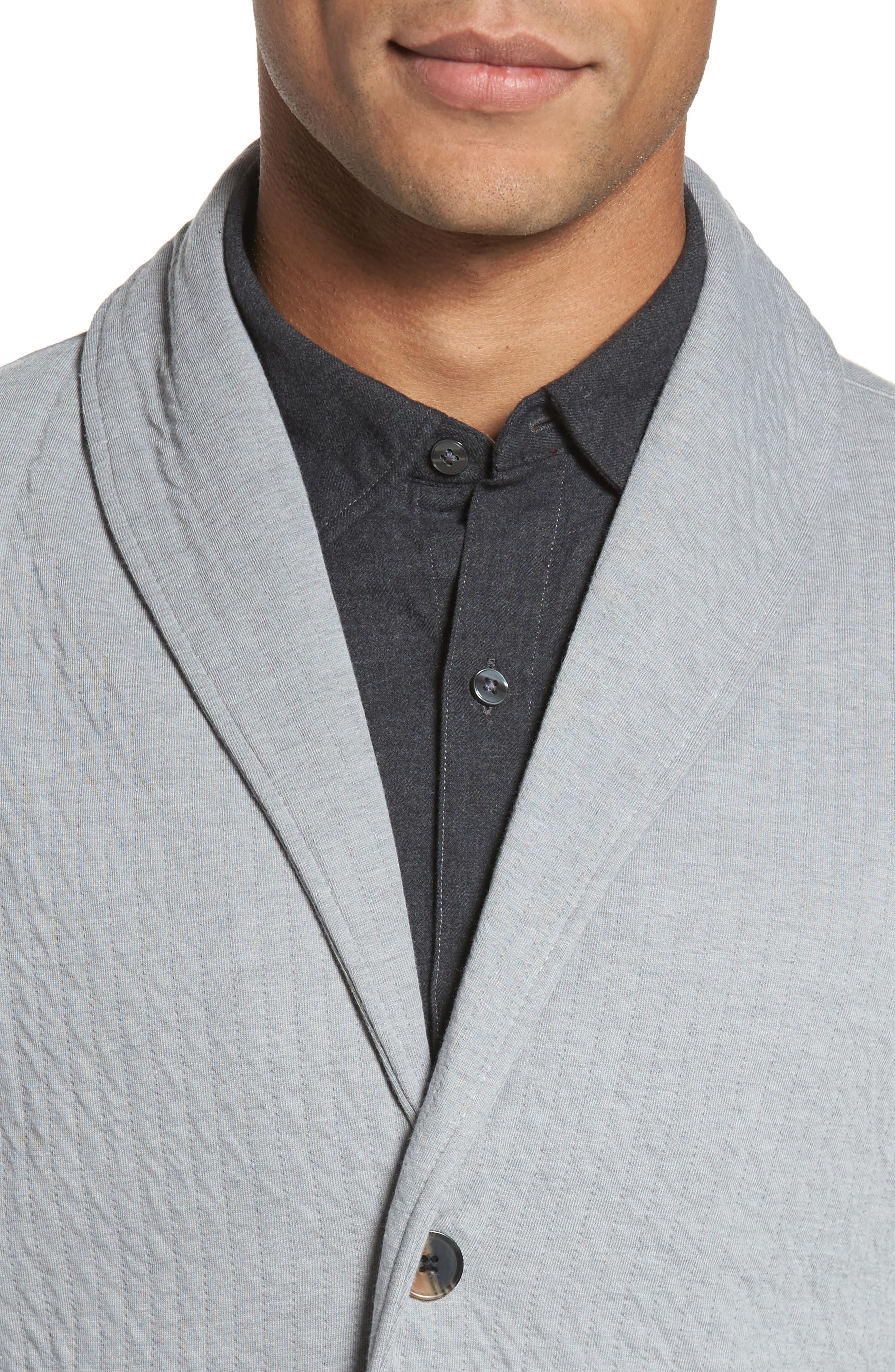 Quilted Shawl Collar Sweater,                             Alternate thumbnail 8, color,