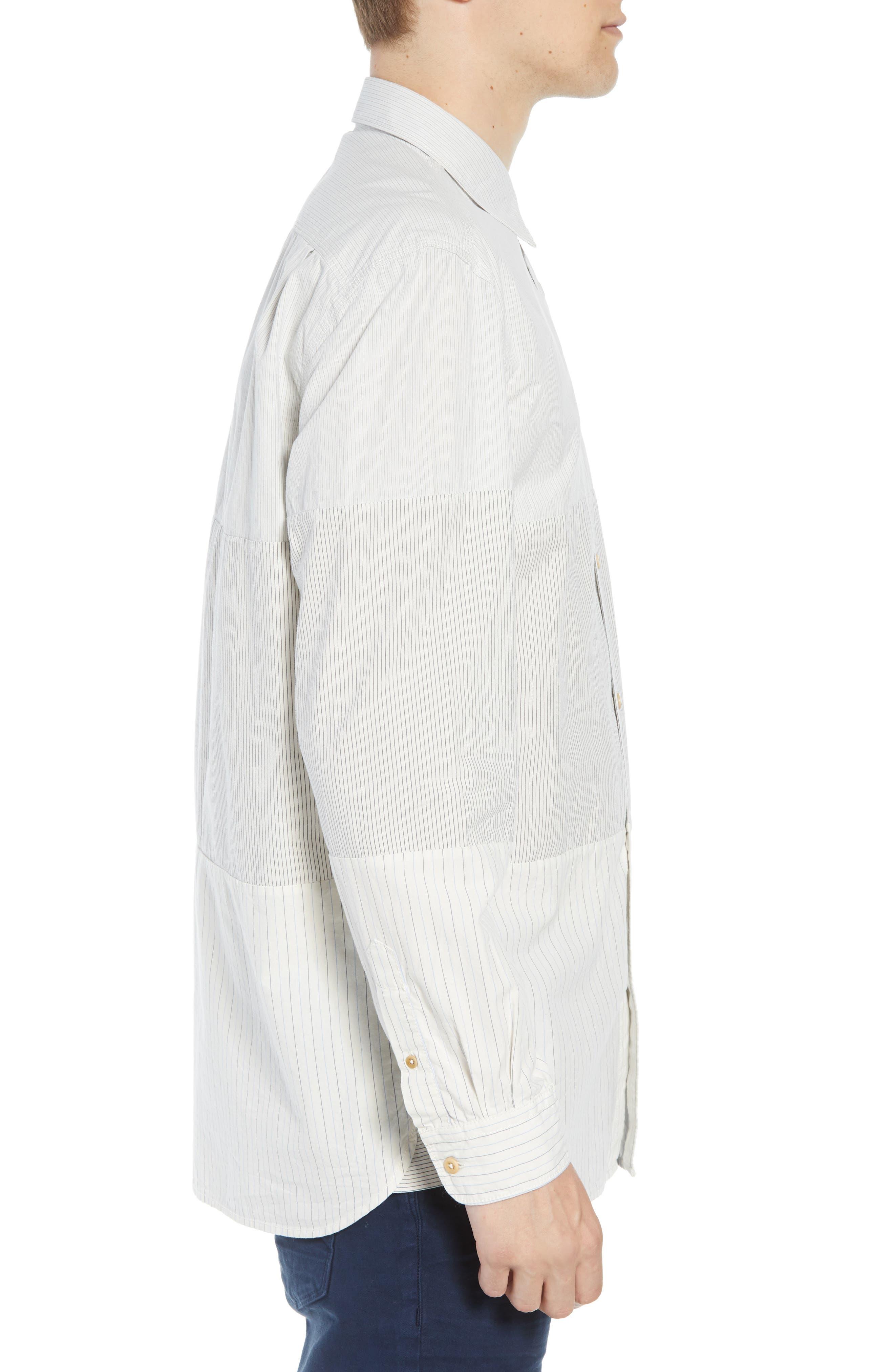 Core Peach Regular Fit Patchwork Sport Shirt,                             Alternate thumbnail 4, color,                             400
