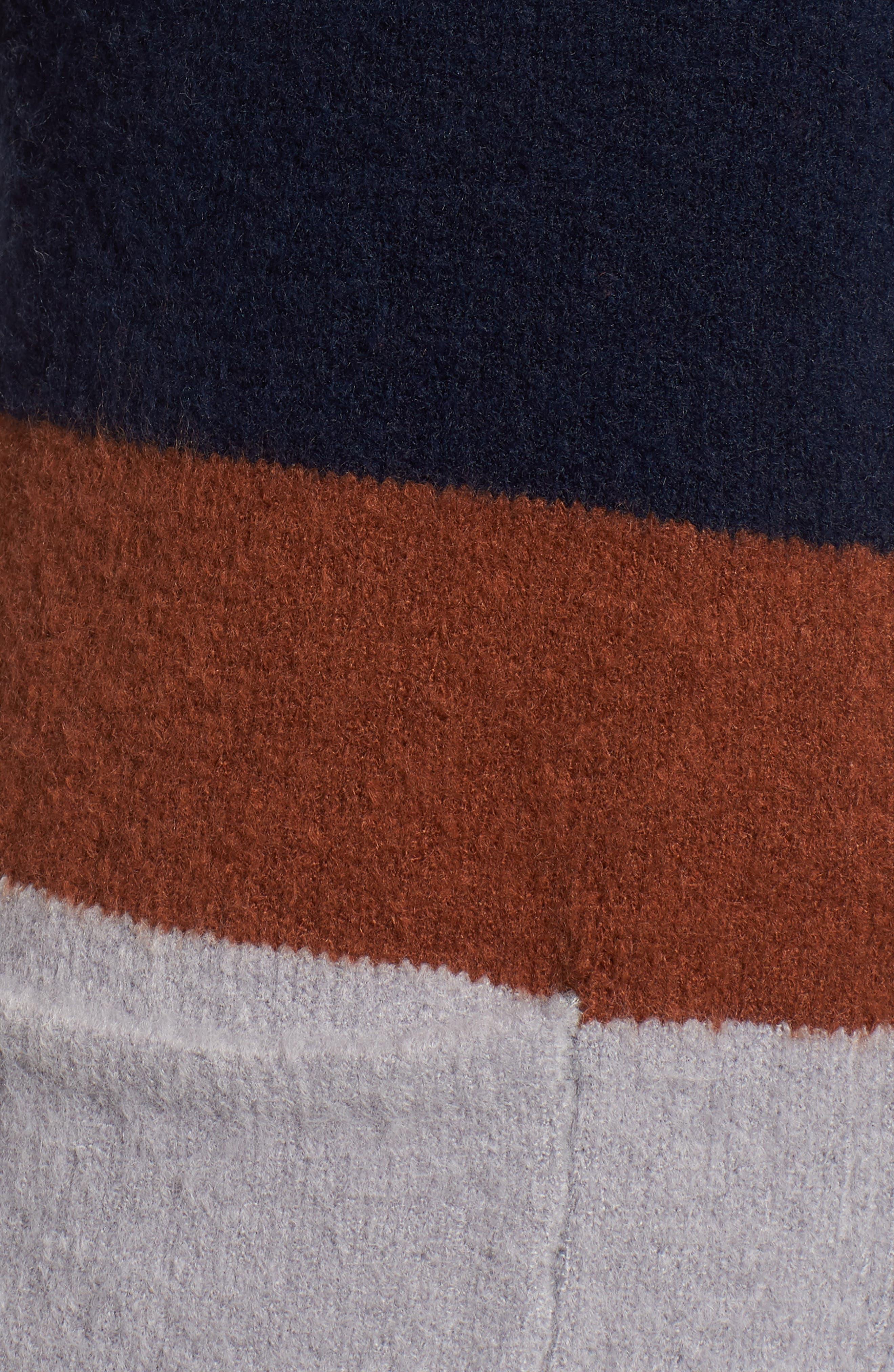Colorblock Cardigan,                             Alternate thumbnail 5, color,                             NAVY/ GREY/ BLACK