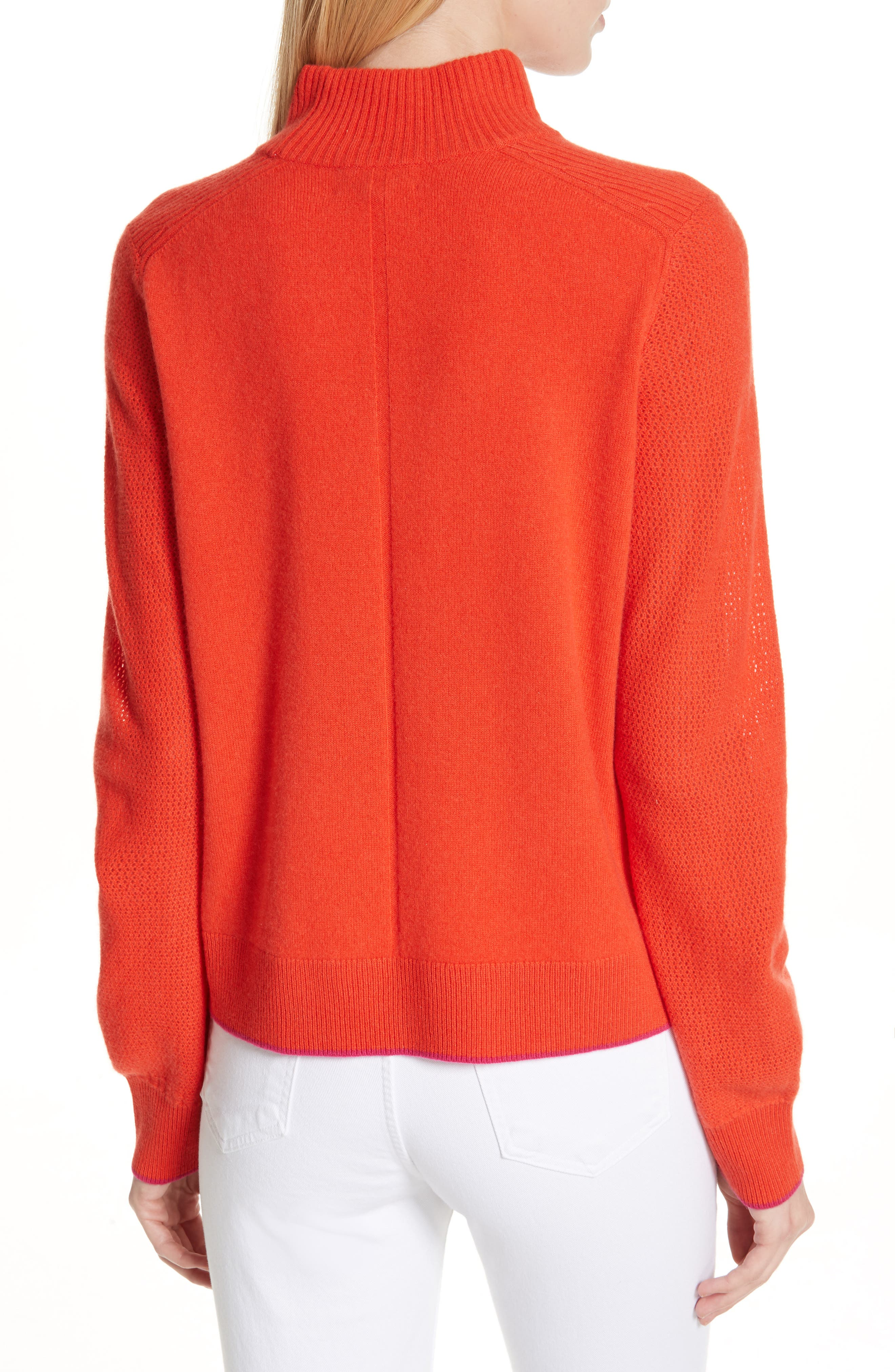 Yorke Cashmere Sweater,                             Alternate thumbnail 2, color,                             RED